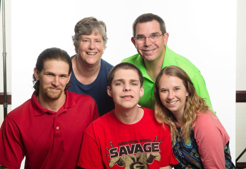 Wally and Lisa Bryan, son-in-law Gordan, son Matthew, and daughter Kelly