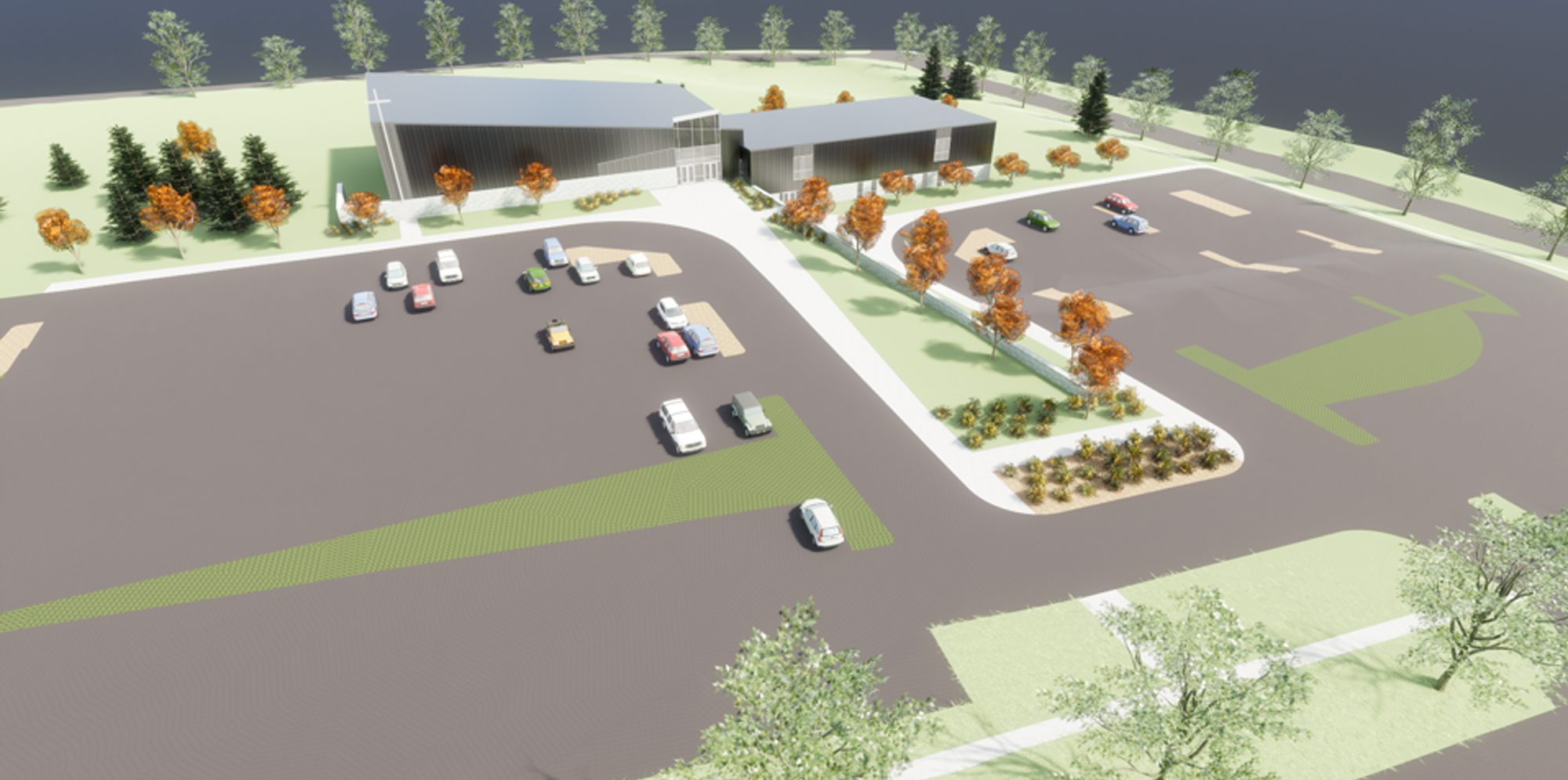 Overall Site with Parking