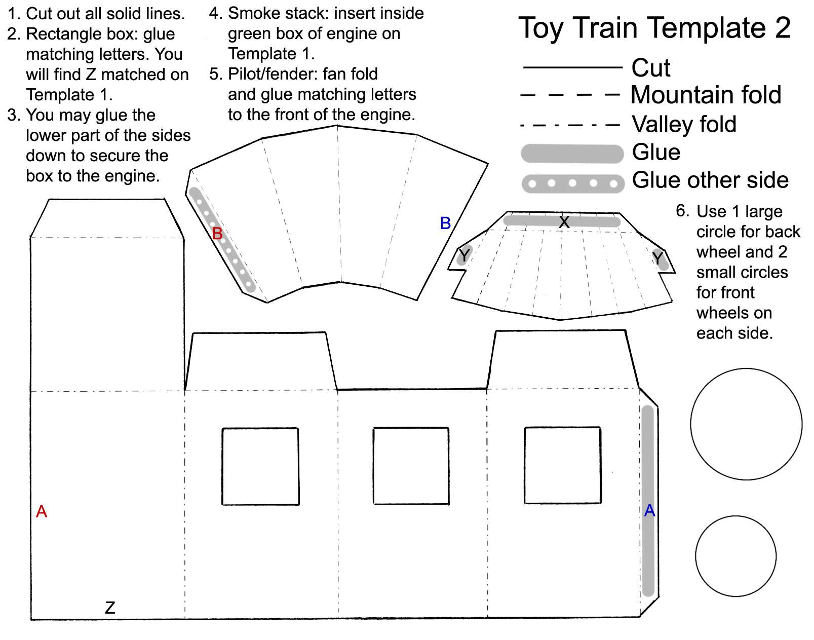 Toy Train Favor Template Part 2