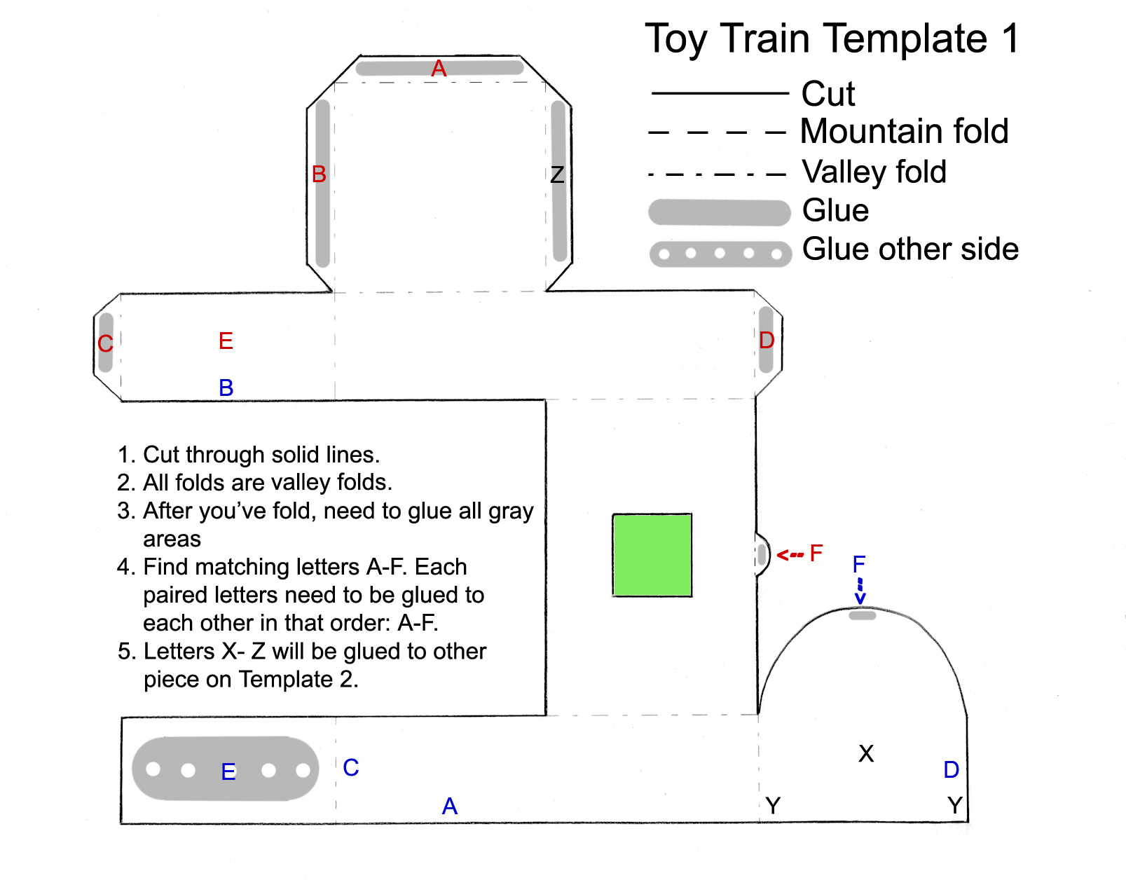 Toy Train Favor Template Part 1