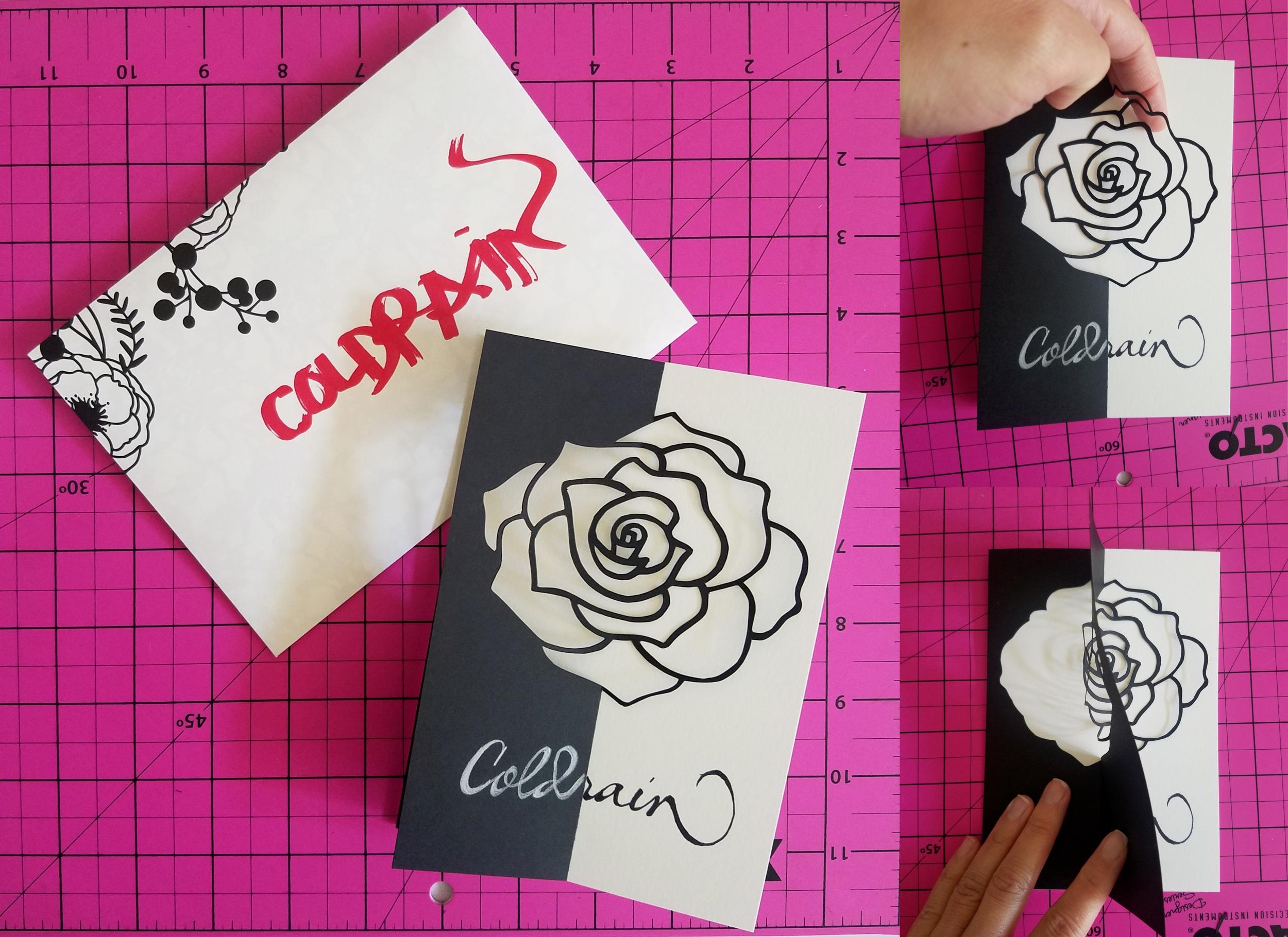 Rose Carved Card
