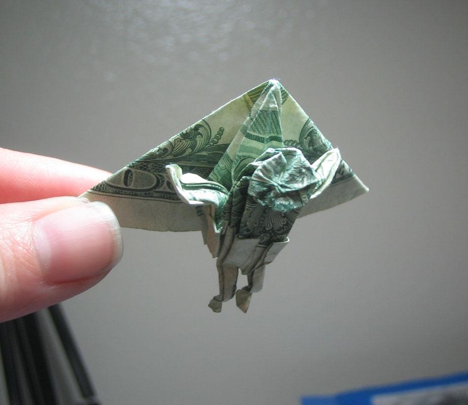 Hang Glider Dollar Bill Origami Moneygami