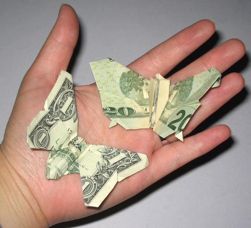 Butterfly Dollar Bill Origami Moneygami