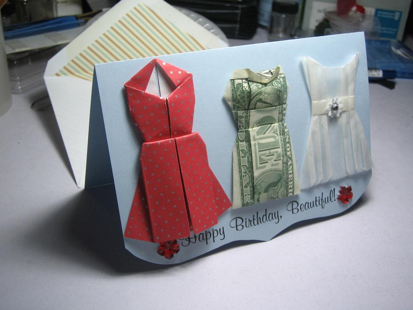 Dress Dollar Bill Origami Moneygami