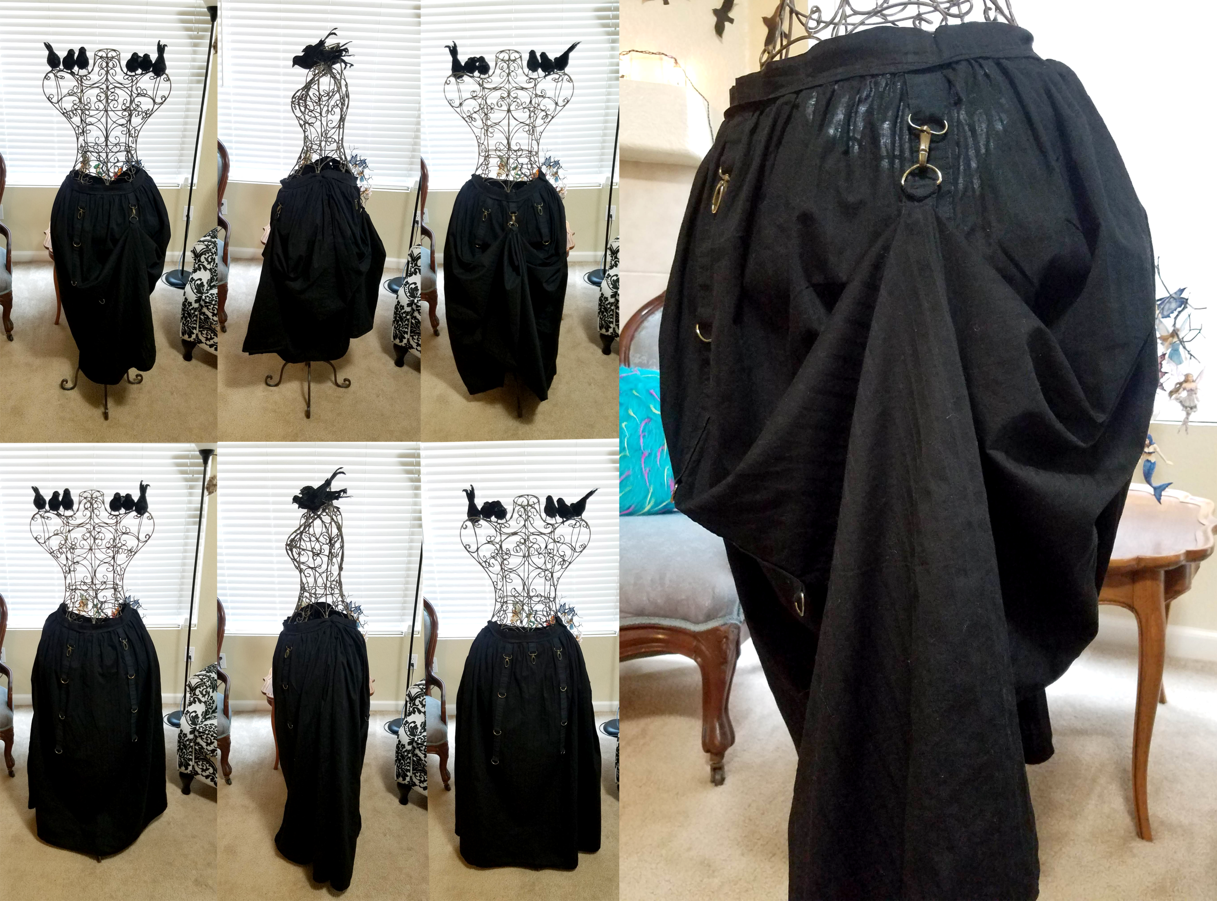 Steampunk Hiked Up Skirt