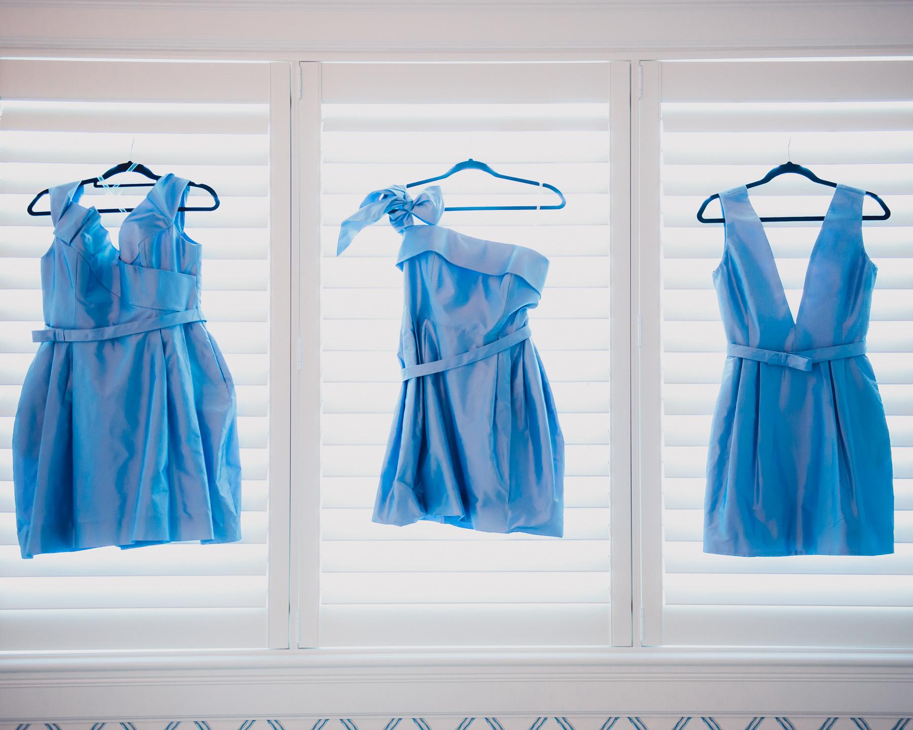 Bridesmaid's dresses are set
