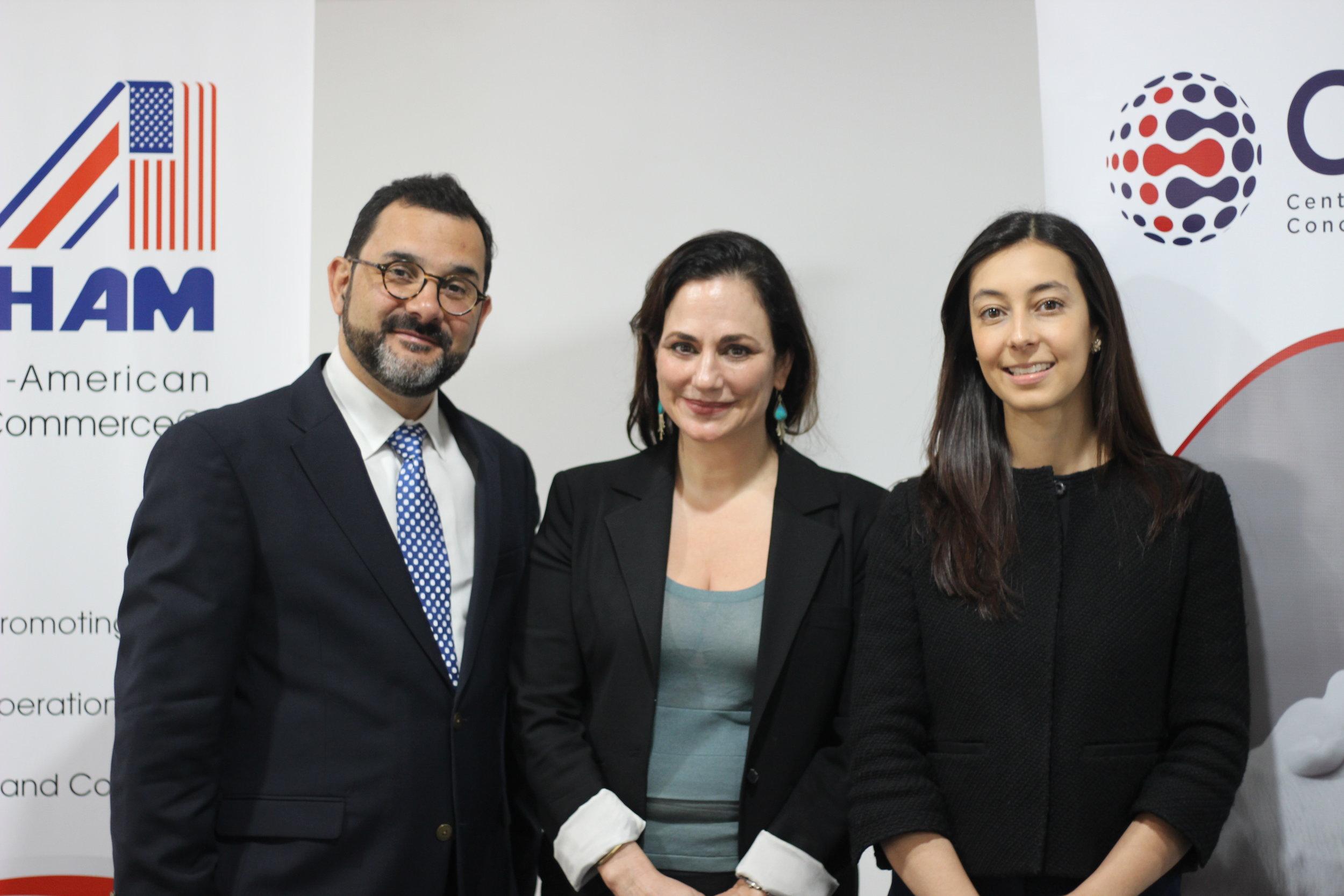 Mauricio Salas, Catherine Rogers, Karima Sauma