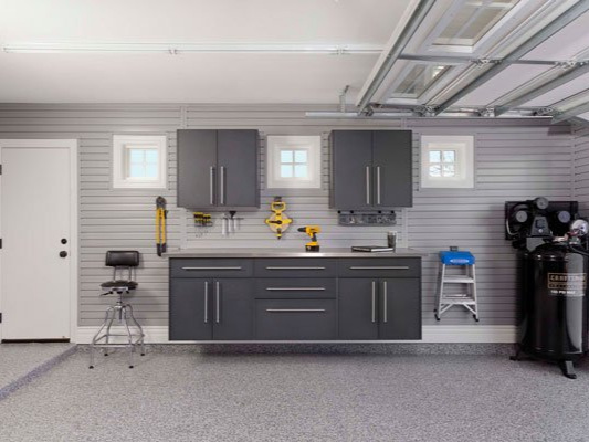 Garages - Garage organization is on almost everyone's to-do list, but for most homeowners, the garage is the last place to get organized. Our skilled technicians can help with everything from floor restoration, storage installation and installing a garage door.