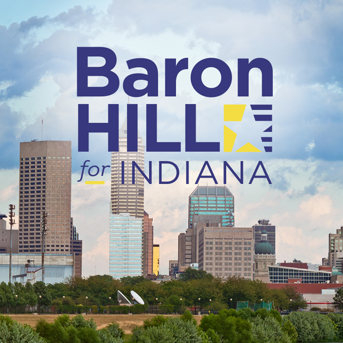 Baron Hill for Indiana 2016 - Branding and Website Design