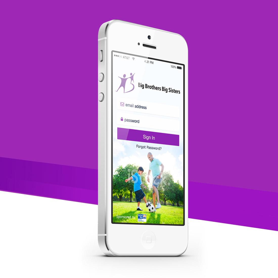 Big Brothers Big Sisters of Indiana - Mobile App UX Design