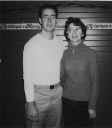 Dec. 1983, Mom visiting Mike in prison.