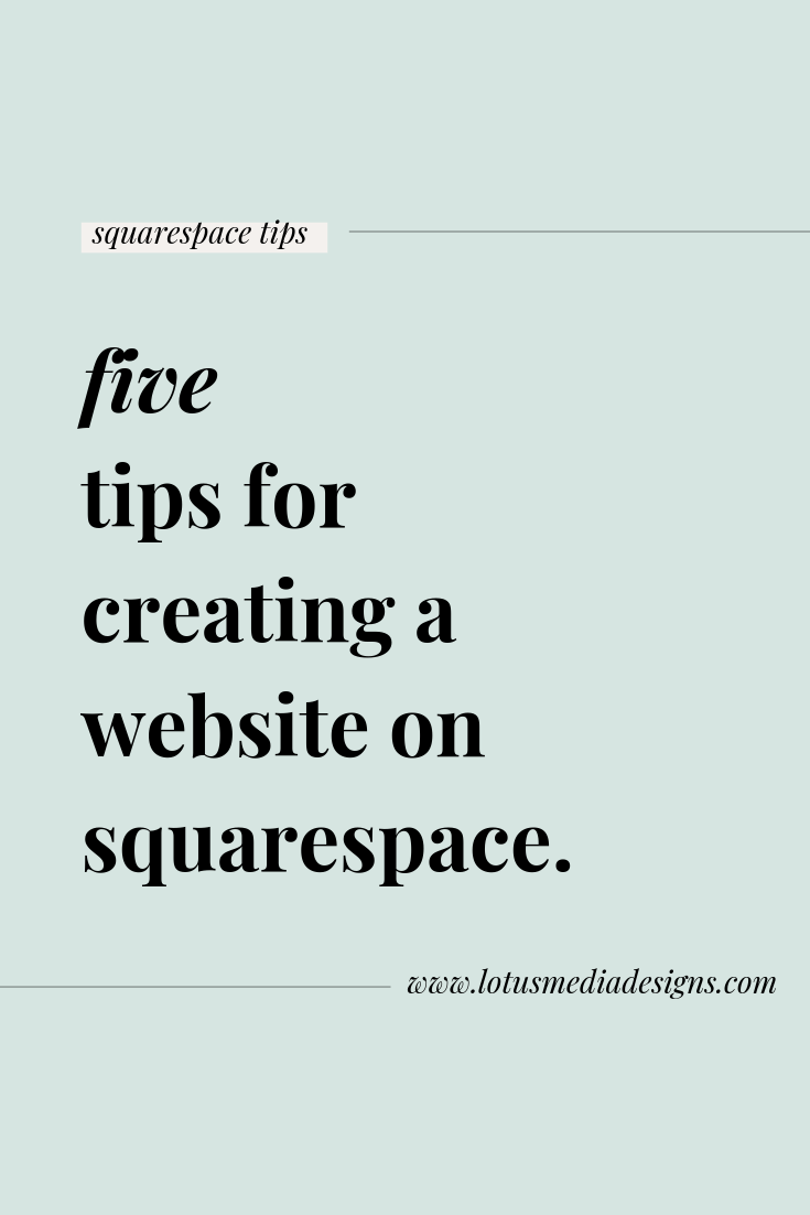 five tips for getting started with squarespace