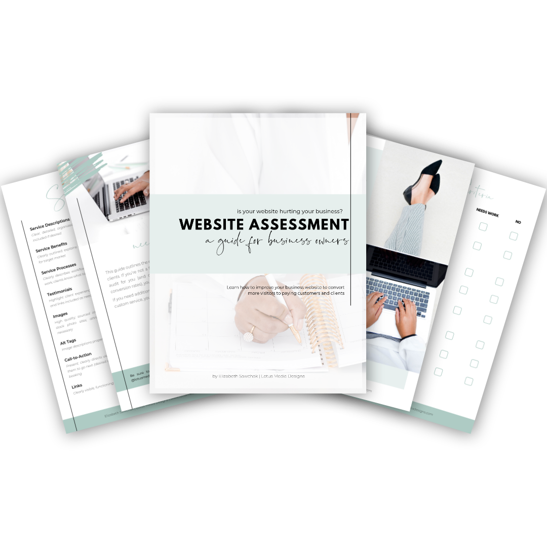 Website Assessment guide - Find out how you can improve your website by completing this free assessment!