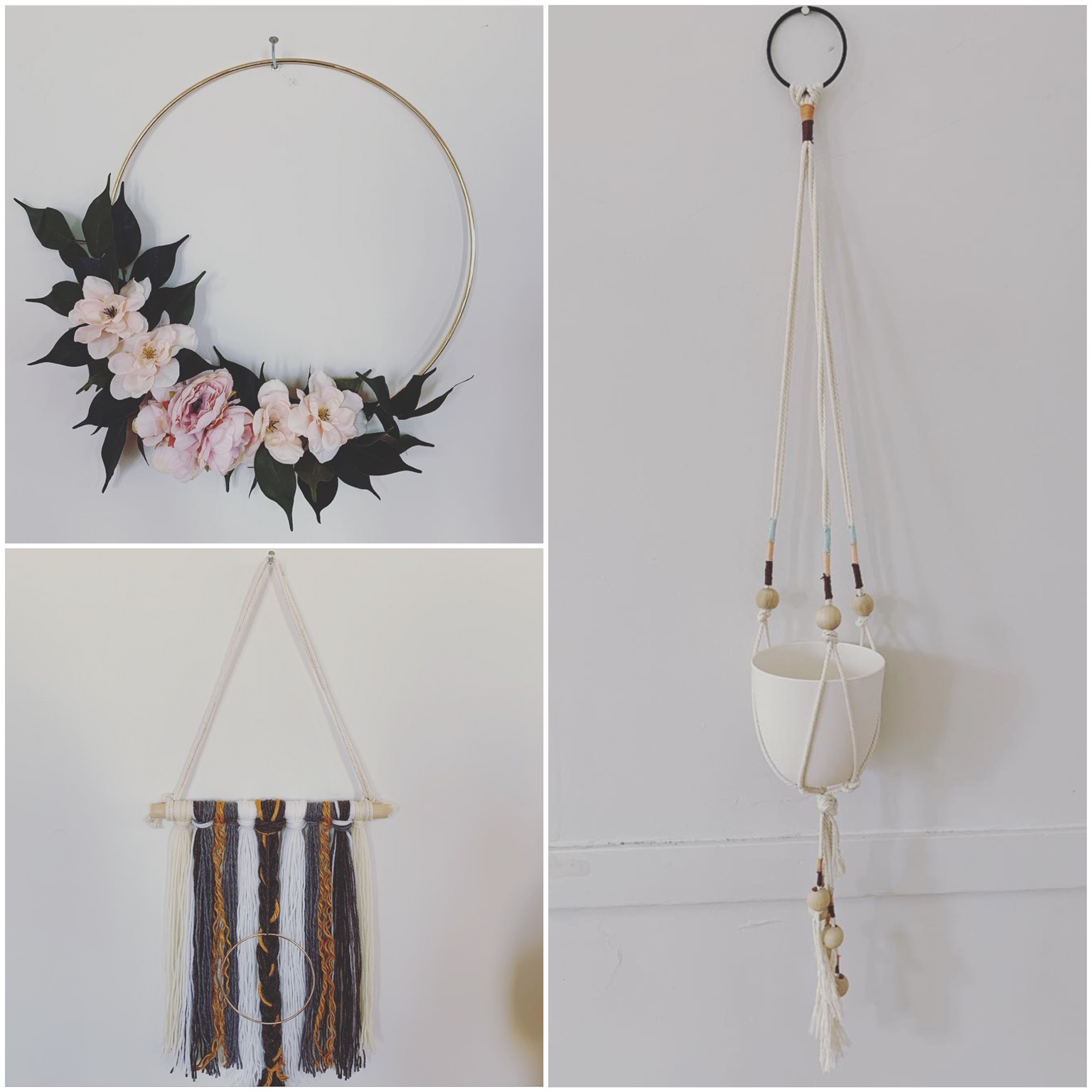 Open Studio - July 3rd 6-8pm - $25.00Have you missed out on a class you wanted to attend? Choose to create a floral wreath, yarn wall hanging, or plant hanger.See individual project descriptions below.Each registration comes with a complimentary glass of wine!Enrollment is limited to 15 per class. Please head to PAYMENTS page to register!