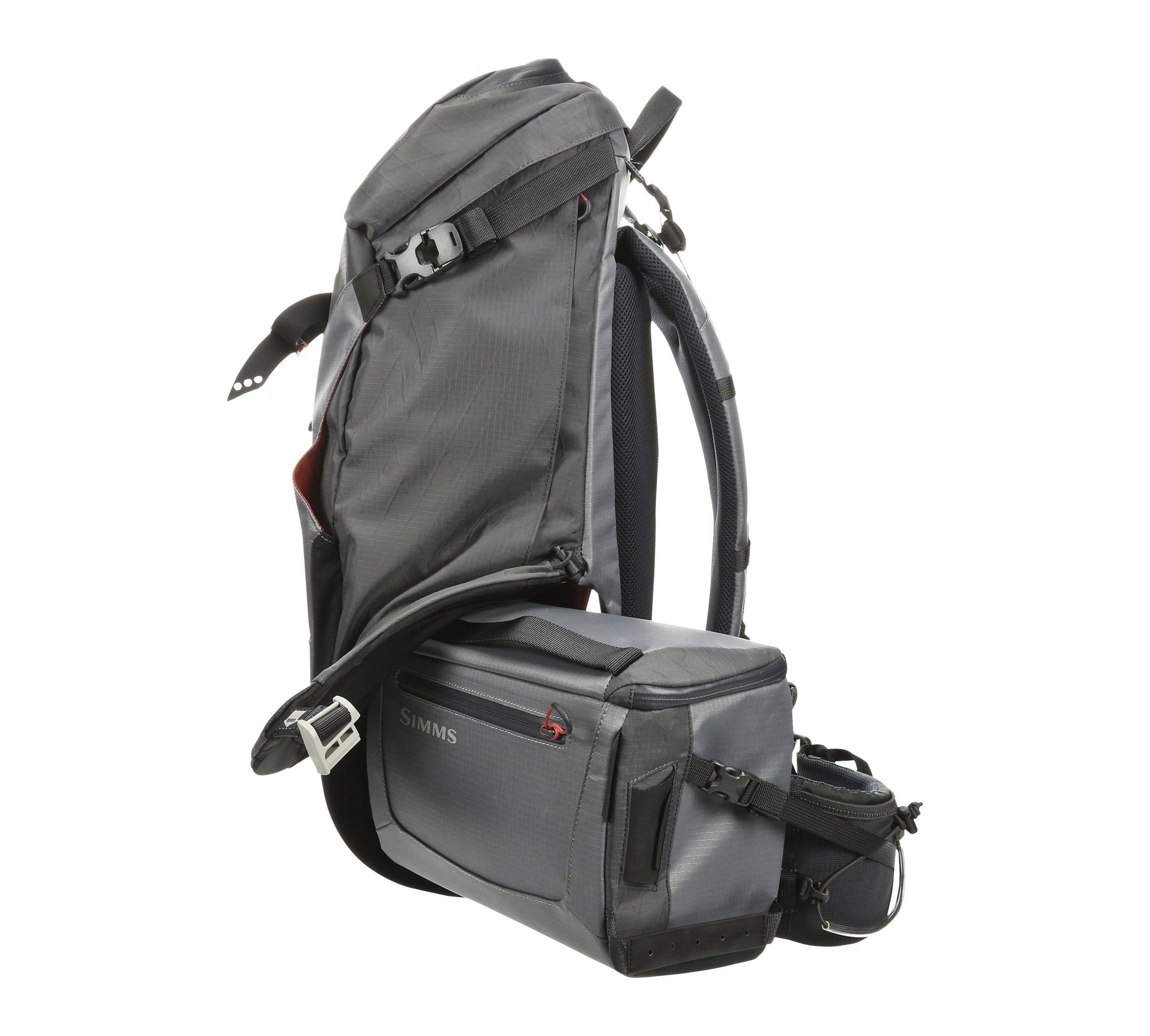 Simms G4 PRO Shift Pack:  https://ironbowflyshop.ca/products/g4-pro-shift-fishing-backpack
