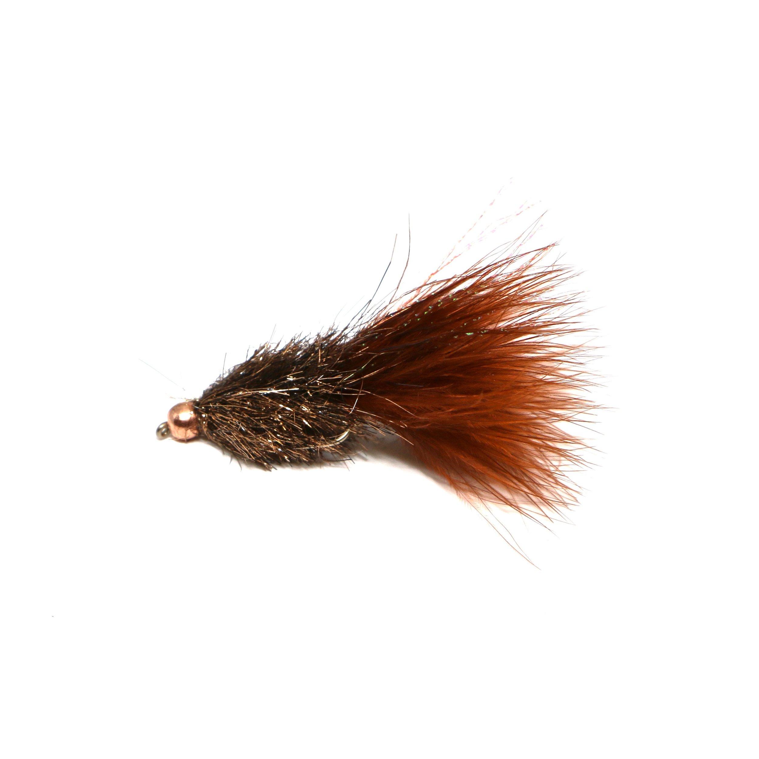 Coffreys Sparkle Minnow Brown:  https://ironbowflyshop.ca/collections/flies/products/coffeys-sparkle-minnow