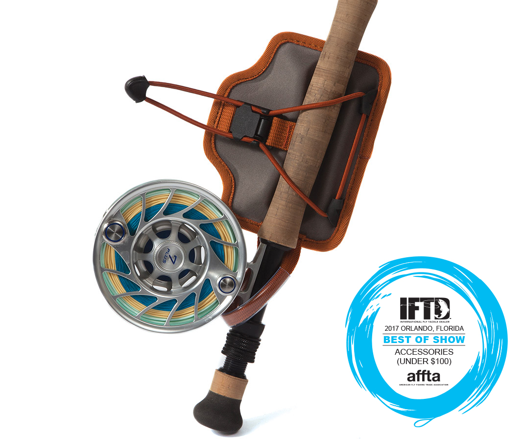 Fishpond Quick Shot Rod Holder:  https://ironbowflyshop.ca/products/fishpond-quikshot-rod-holder