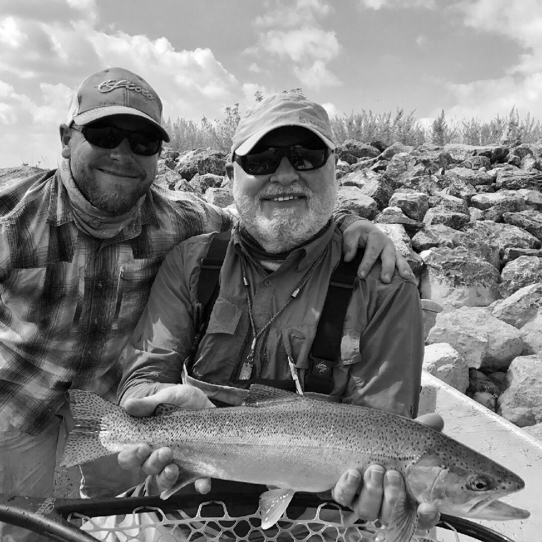 Our Head Guide Paul Laframboise with A happy client.