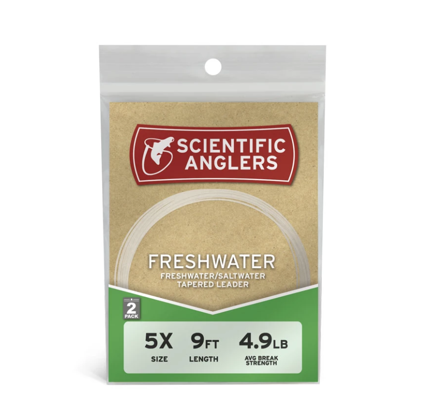 Scientific Anglers 9' and 12' Leaders:  https://ironbowflyshop.ca/collections/leaders-and-tippets/products/scientific-anglers-freshwater-2pk-9-and-12-leaders