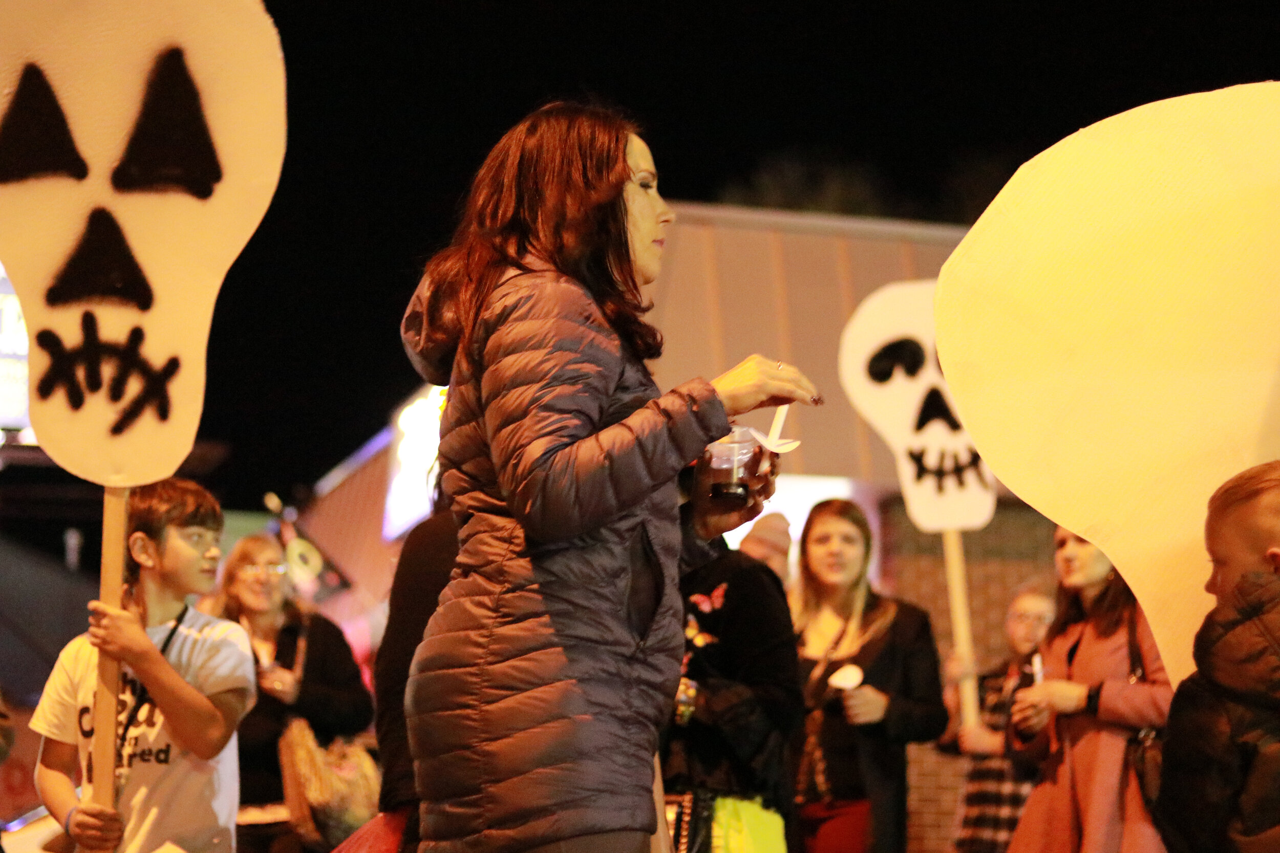 A candle light procession starting from Pirate: Contemporary Arts. | Photo by 40 West Arts