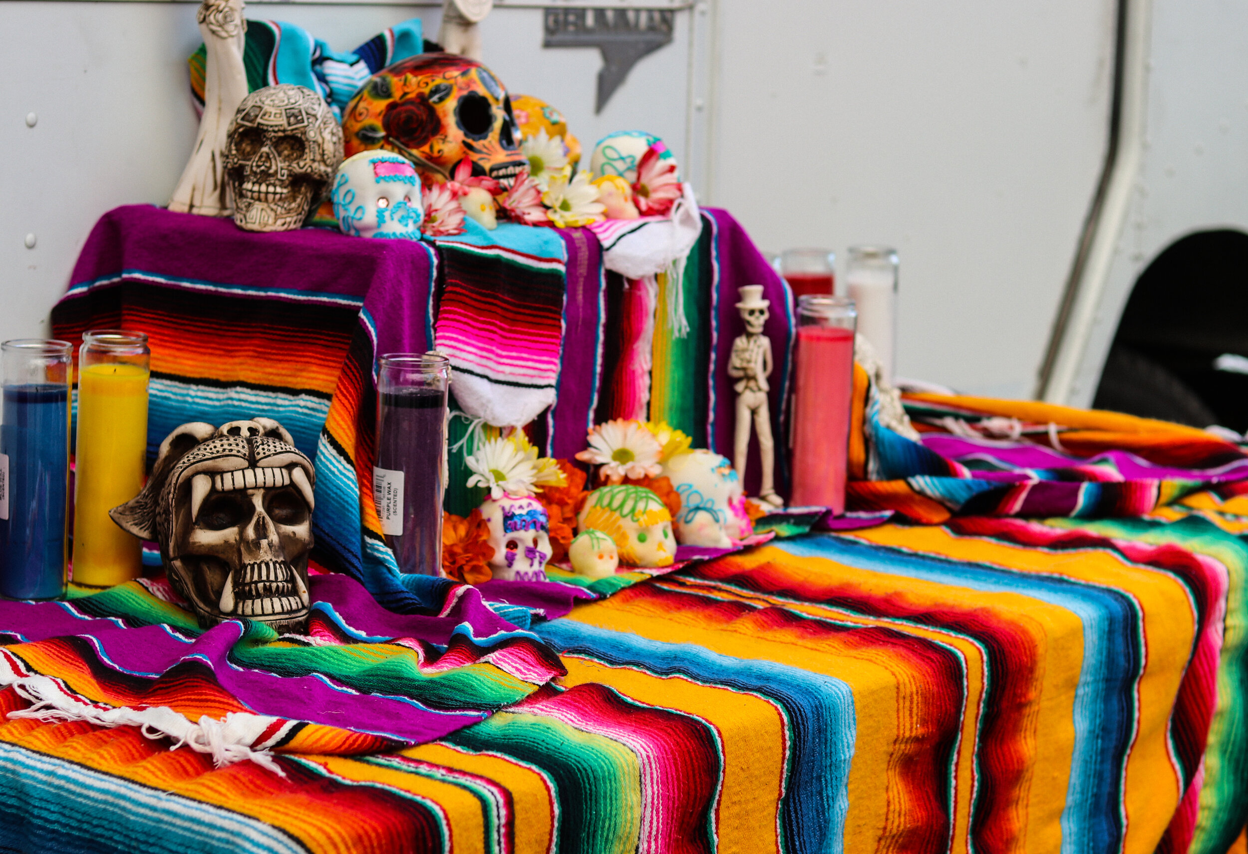 An Altar from Food Vendors at the 2018 Art Crawl | Photo by 40 West Arts.