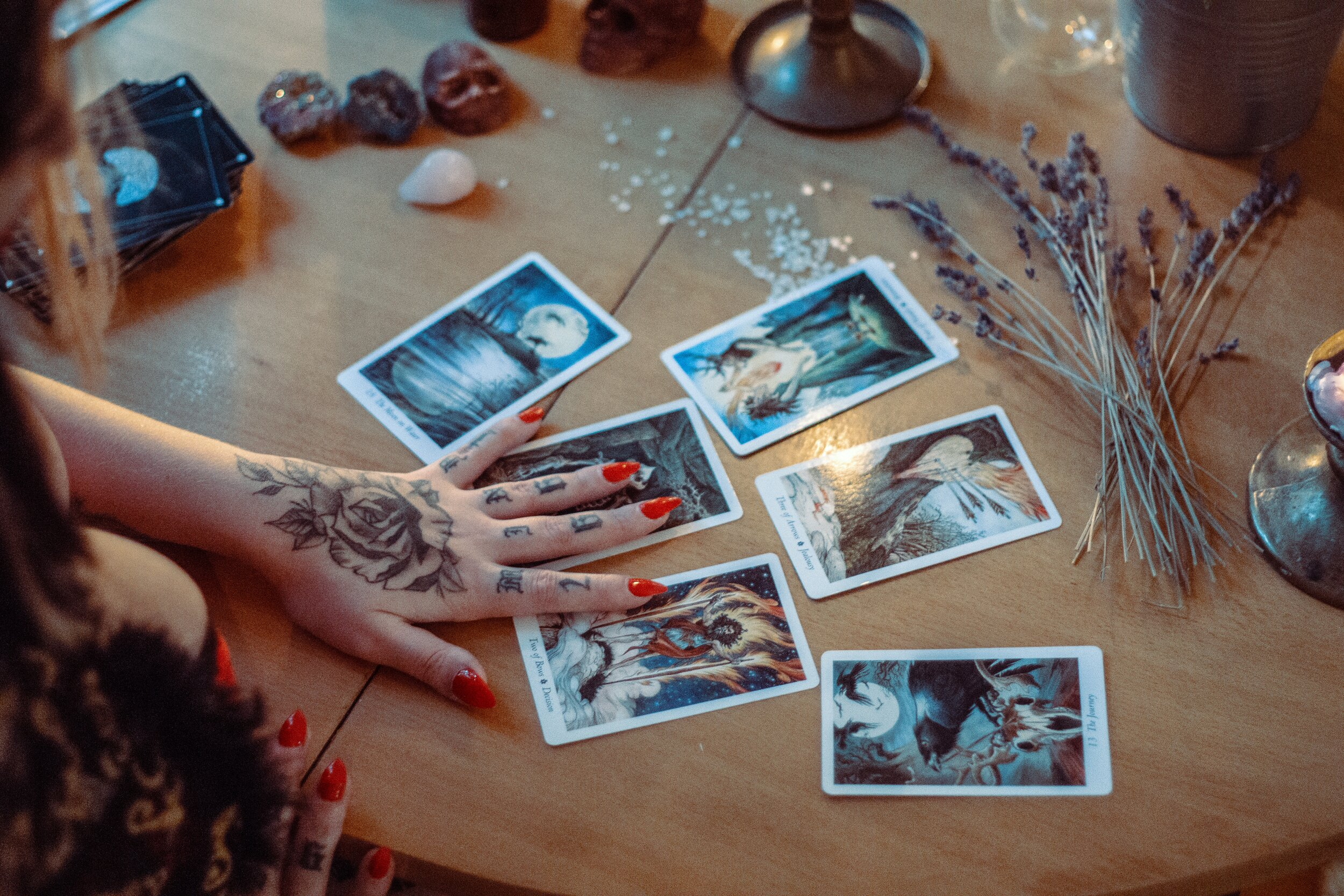 Example of Tarot Card Reading | Photo by   Alina Vilchenko   from   Pexels