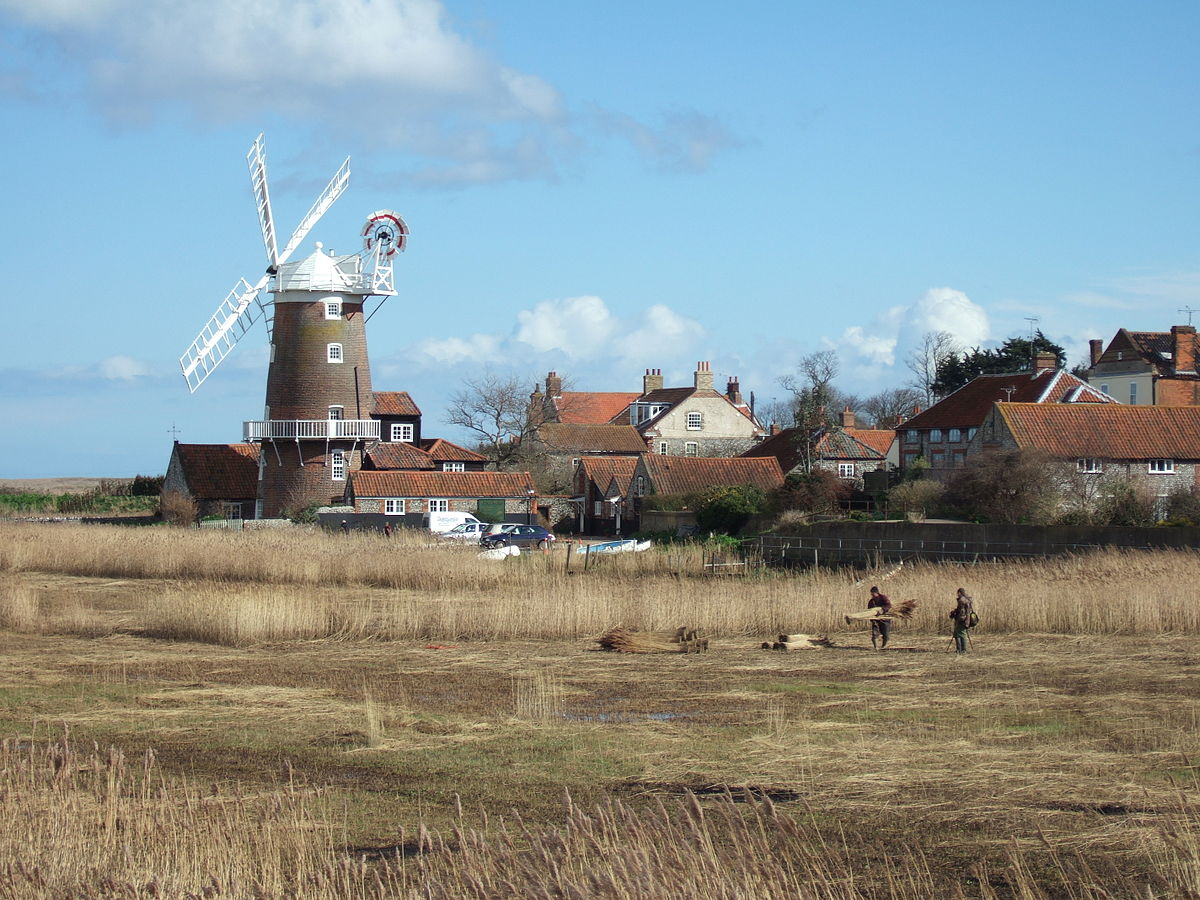 The famous windmill at Cley. Photo courtesy  Palmiped