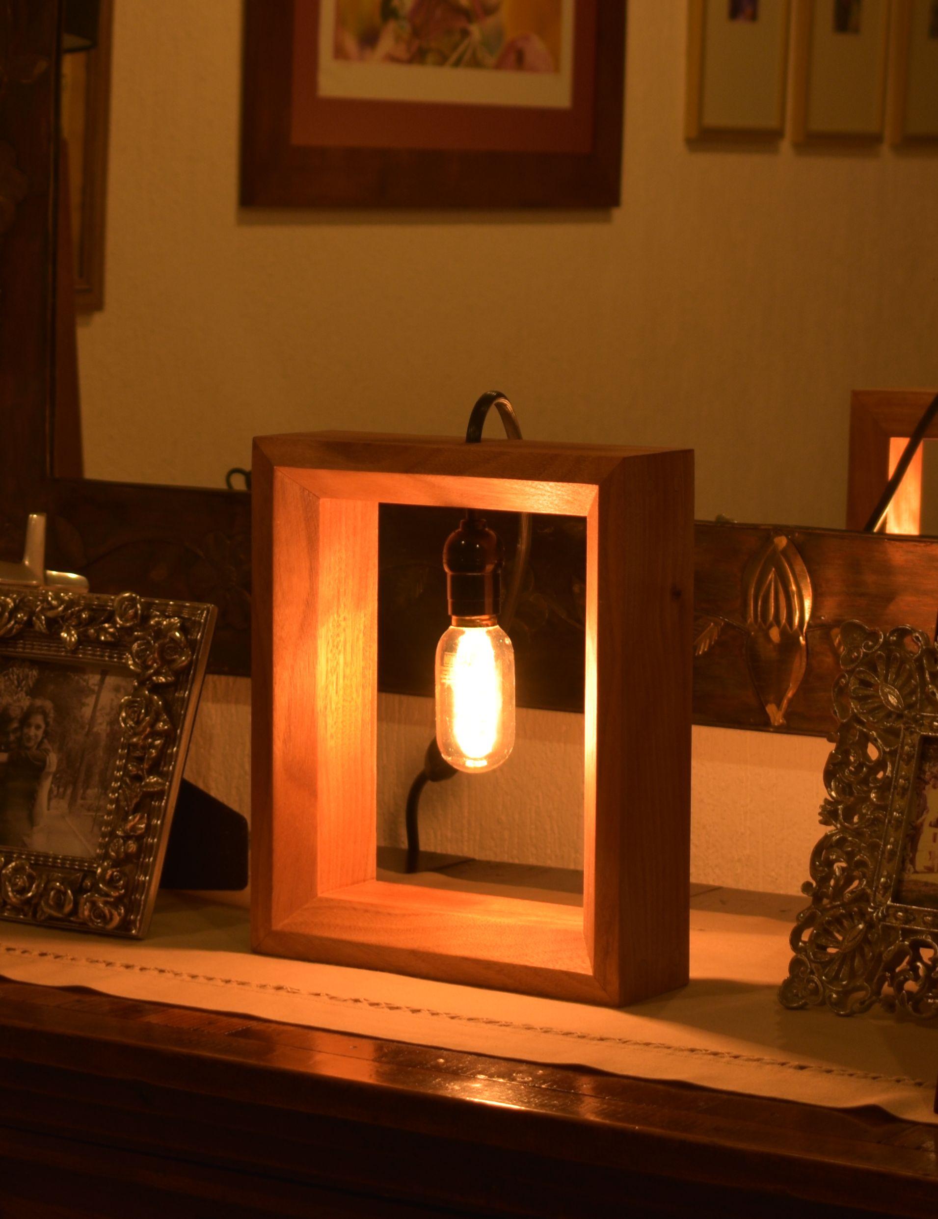 Lámpara de Cuadro de Madera