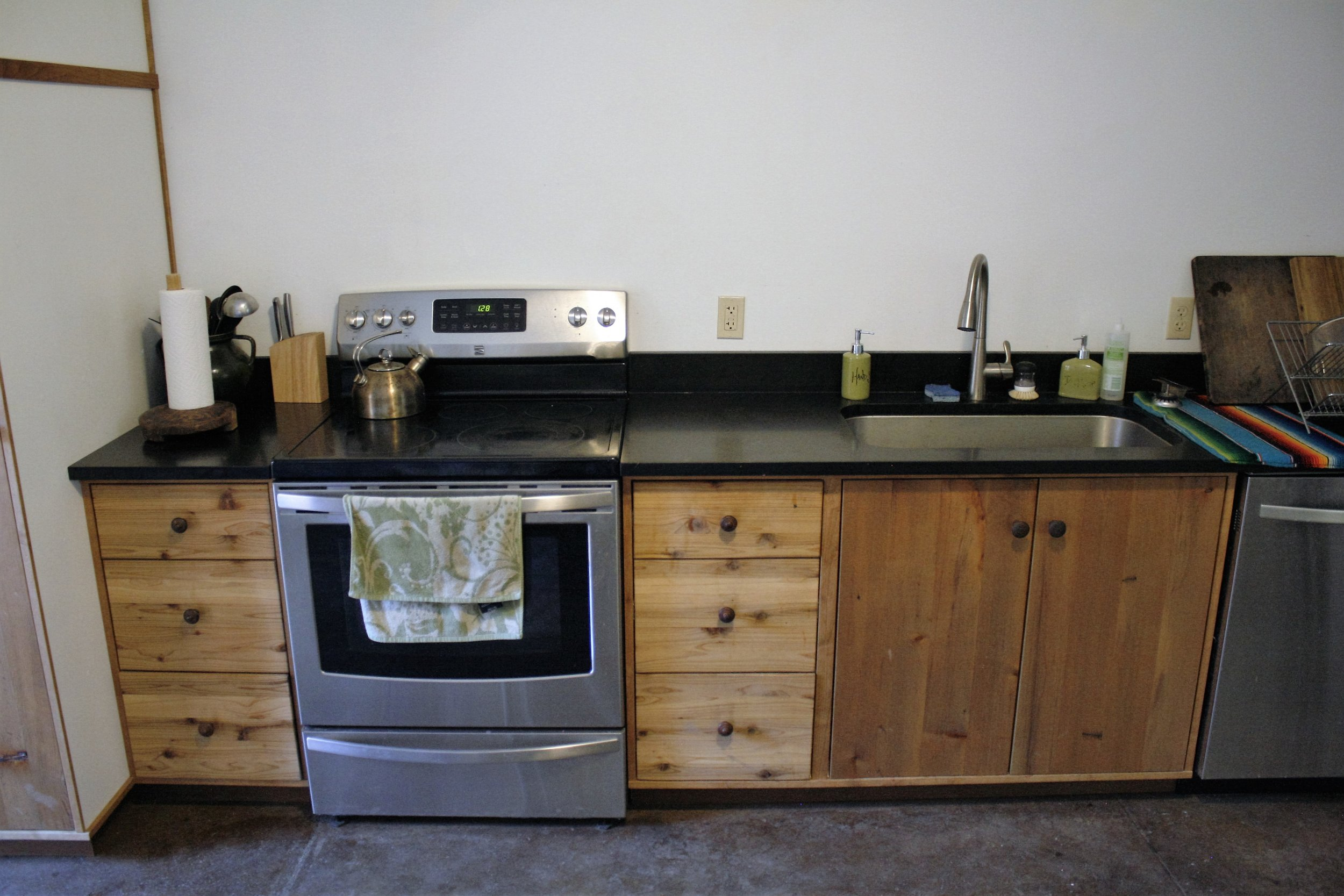 Custom cabinetry and appliance install