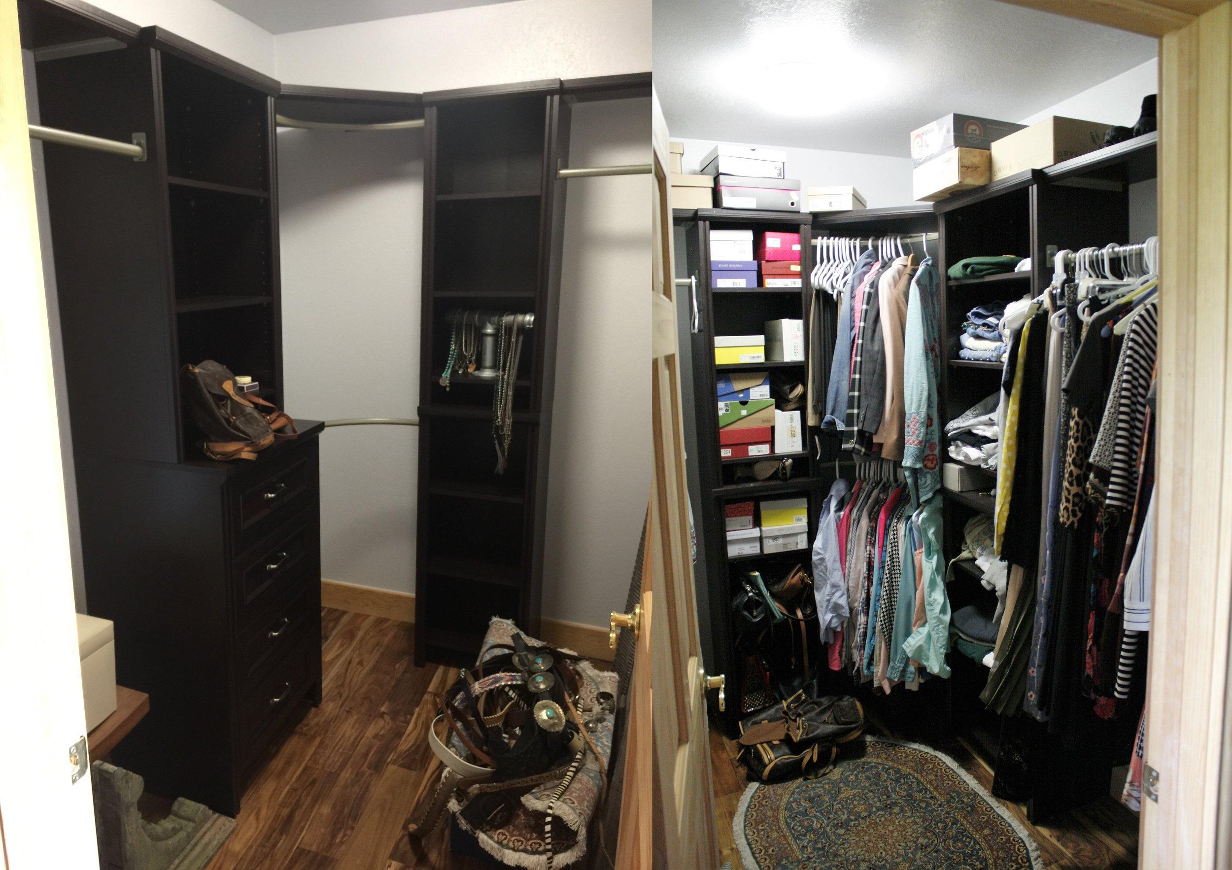 Home Depot closet system install