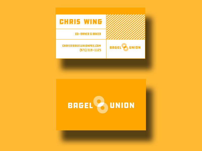 Business Cards - Business cards were designed for each of four partners in one of the colors from the palette.The design itself evokes the same modern, industrial vibe as the rest of the brand and plays nicely with the other materials we designed.