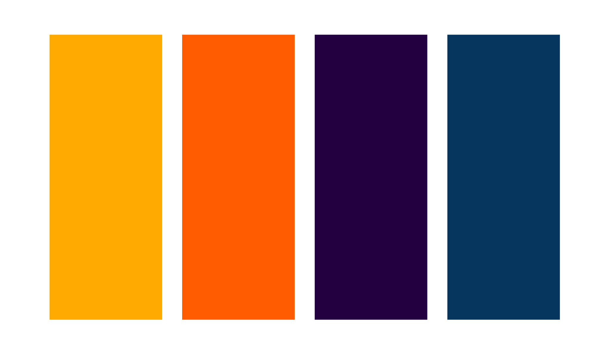 Color Palette - We began our design process with a collection of bold, complementary colors.Featuring deep yellow and orange in the logo to evoke the warmth of freshly baked bagels, we added contrast with cool, complementary violet and navy for depth and a modern vibe.