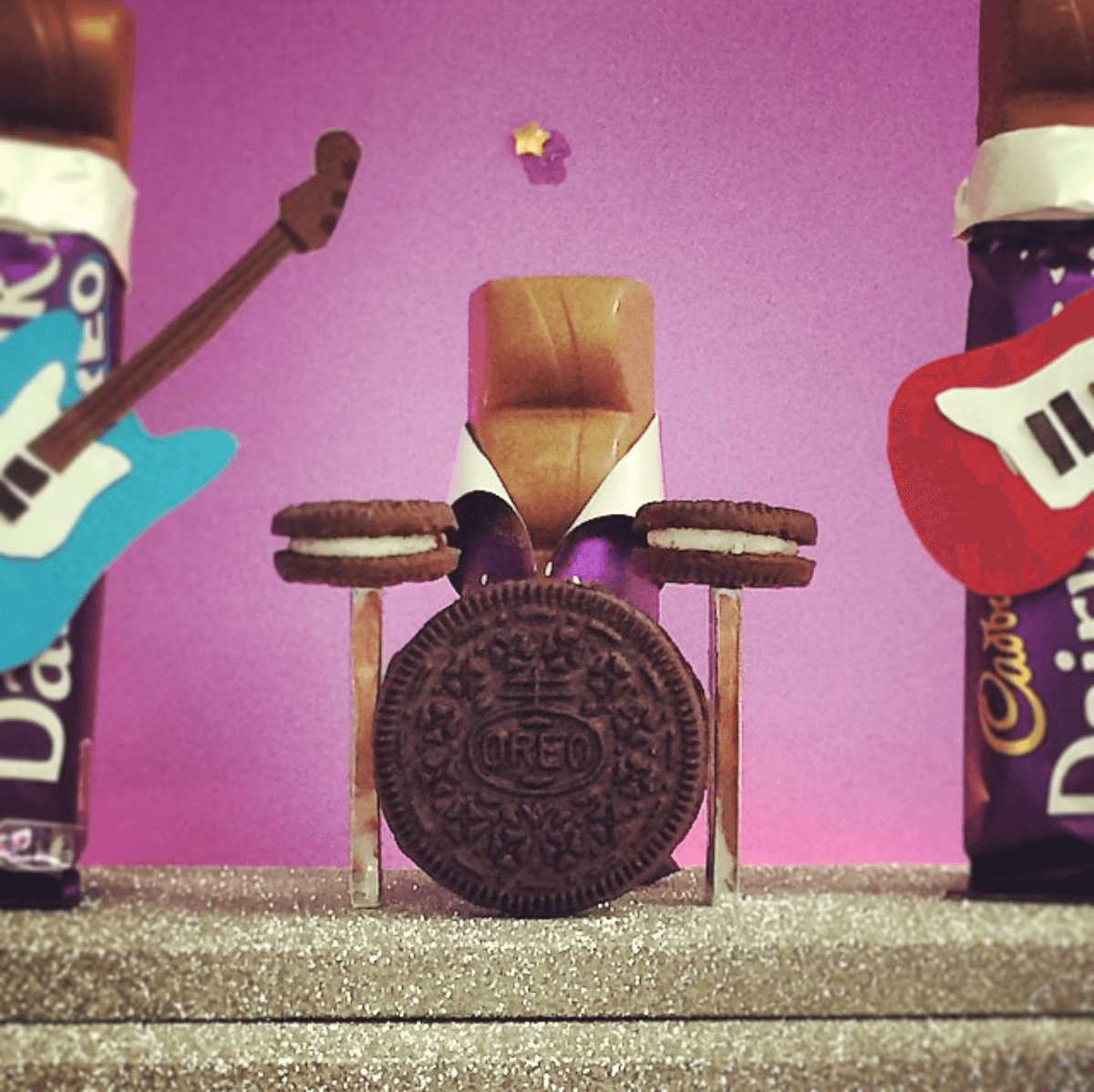 From building a mini Oreo drum kit for a Cadbury Dairy Milk bar… -