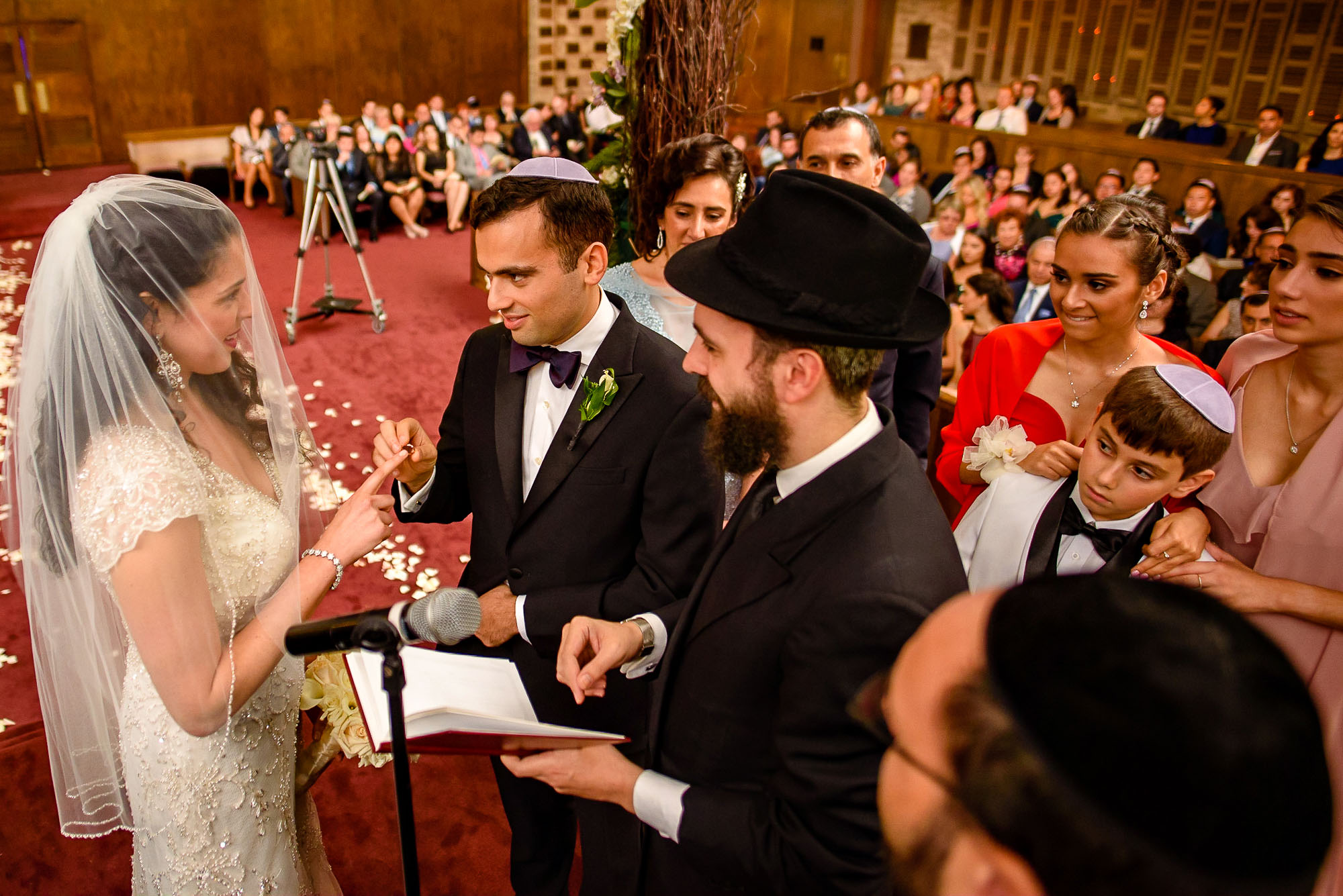 The Sephardic Temple jewish wedding ceremony