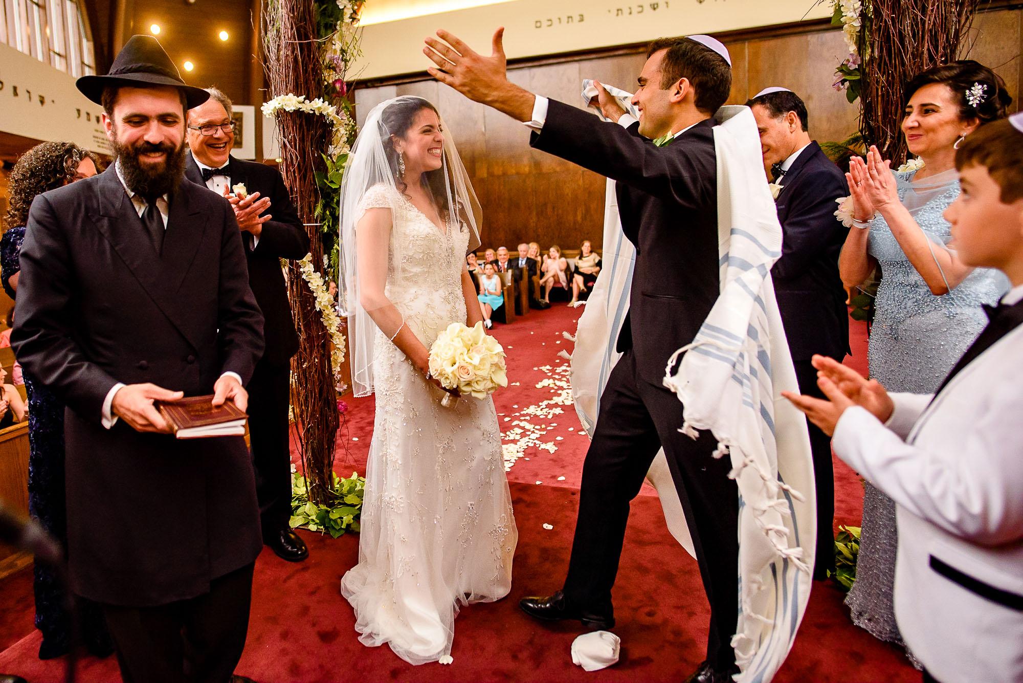 The Sephardic Temple jewish wedding ceremony