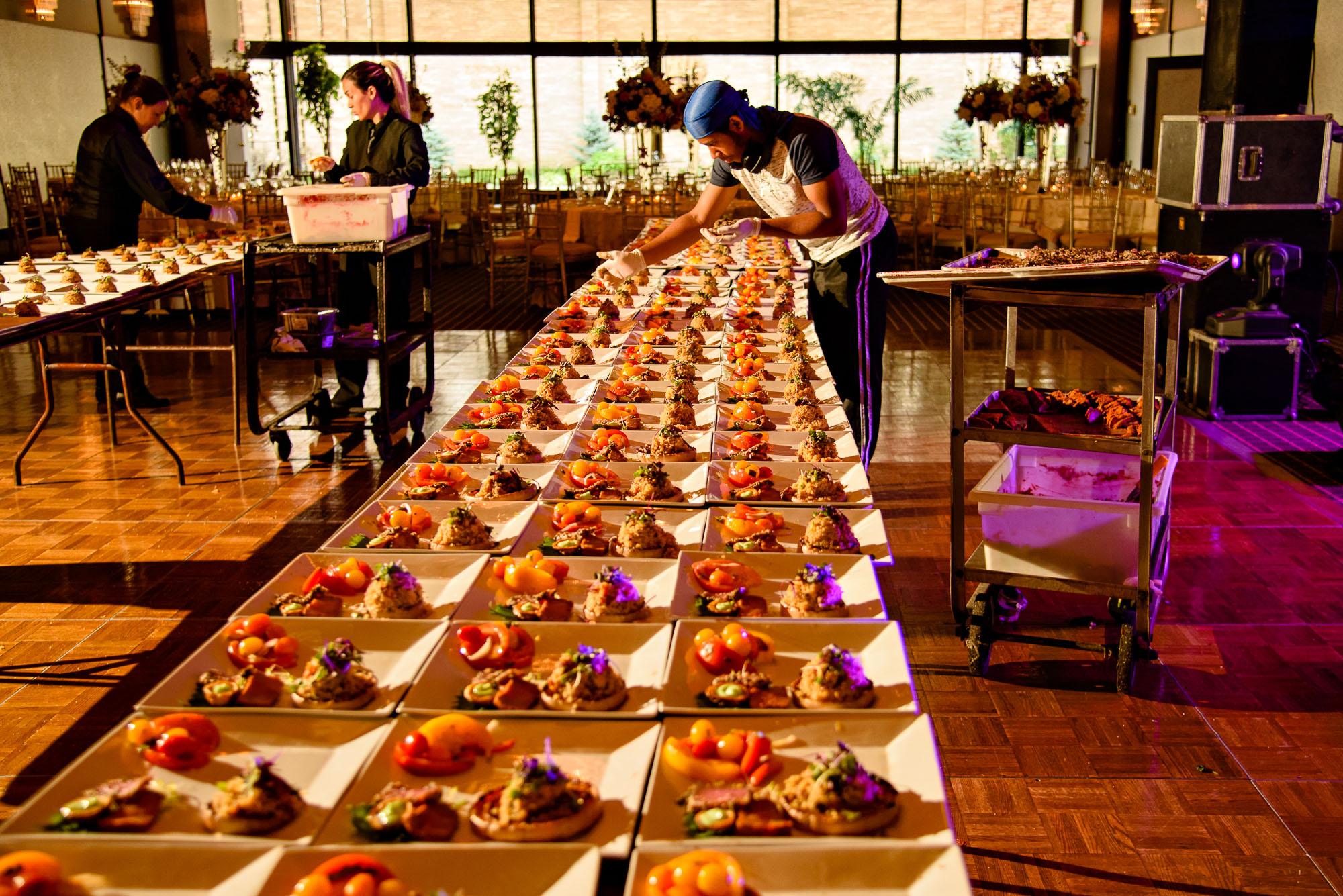 The Sephardic Temple reception preparations