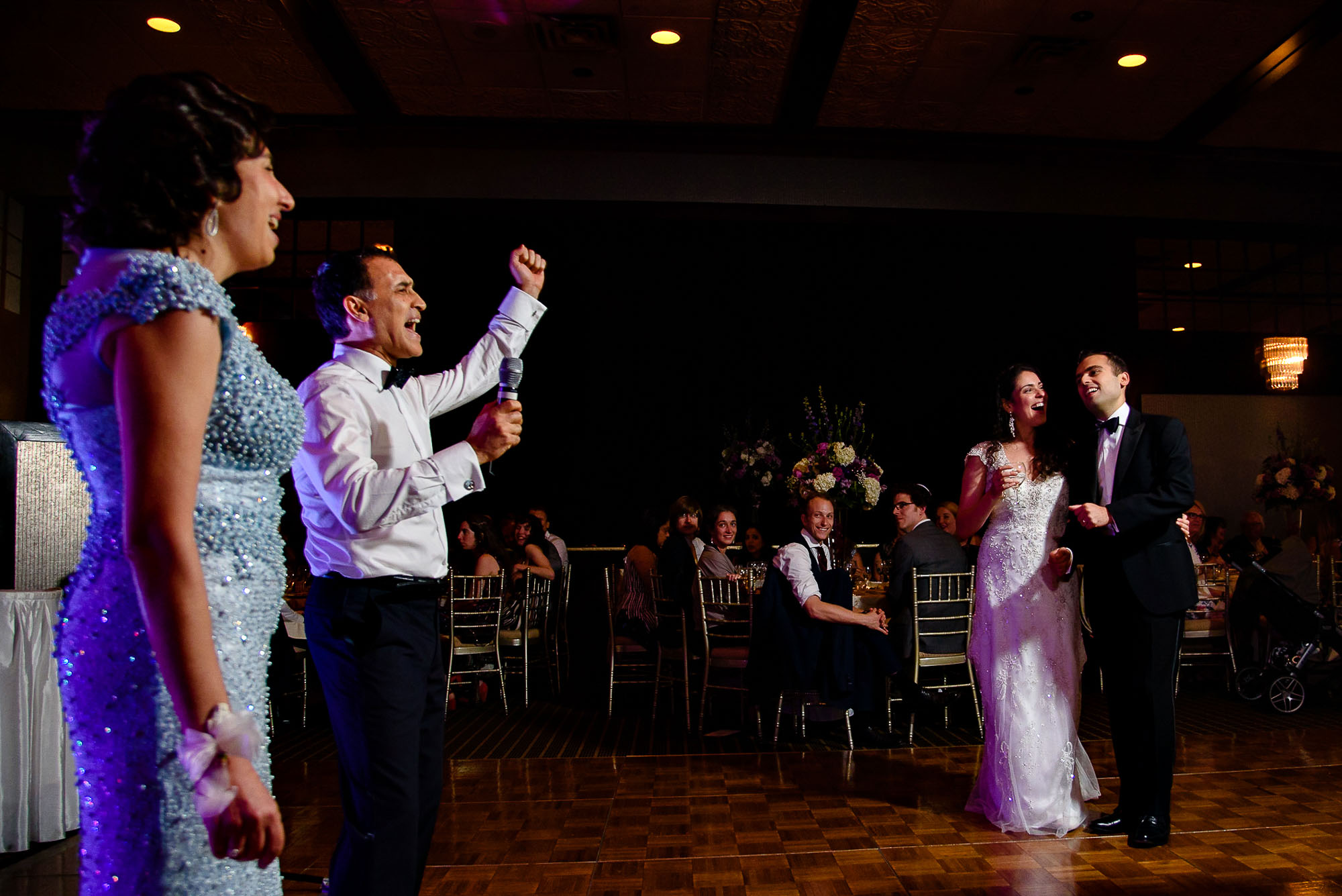 The Sephardic Temple toasts and speeches