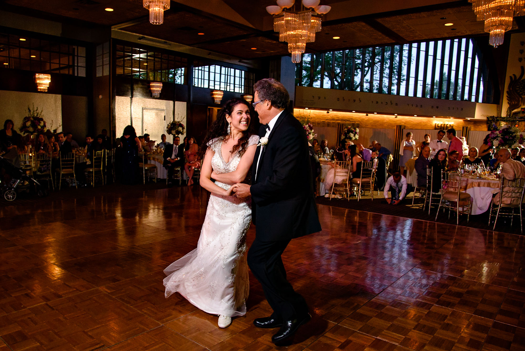 The Sephardic Temple wedding father daughter dance