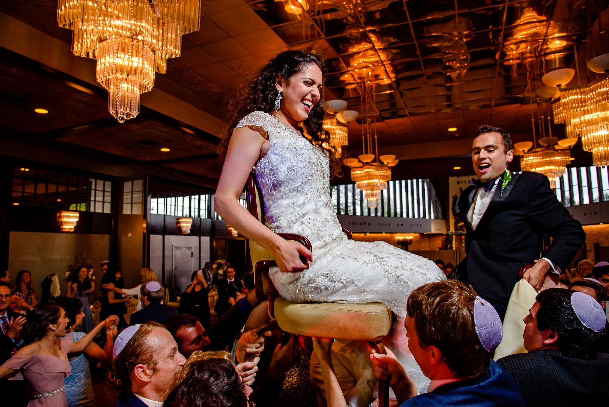 The Sephardic Temple wedding hora dance