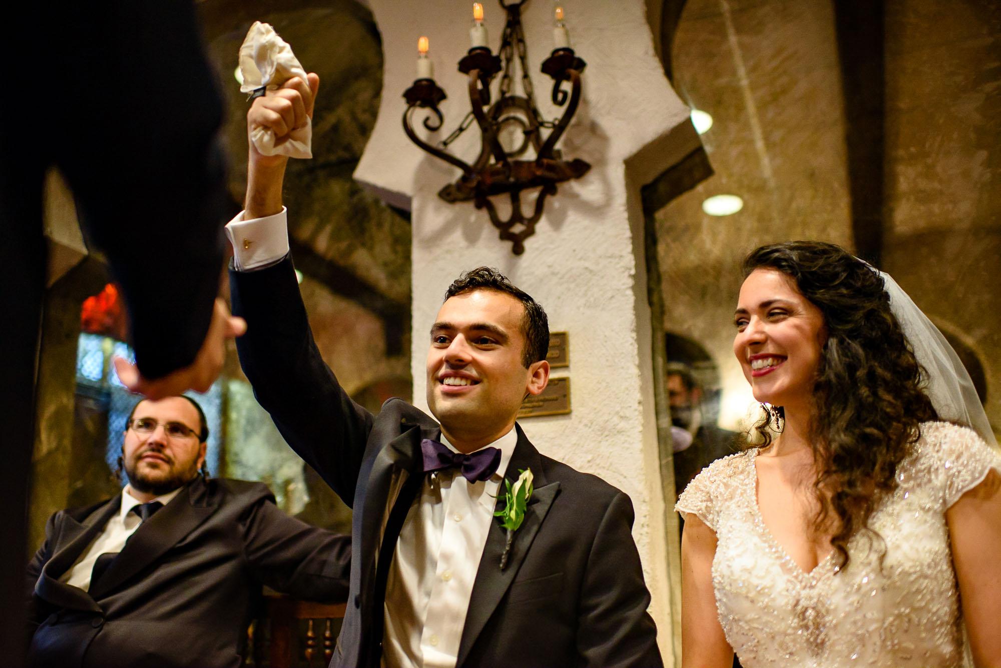 The Sephardic Temple wedding Ketubah signing