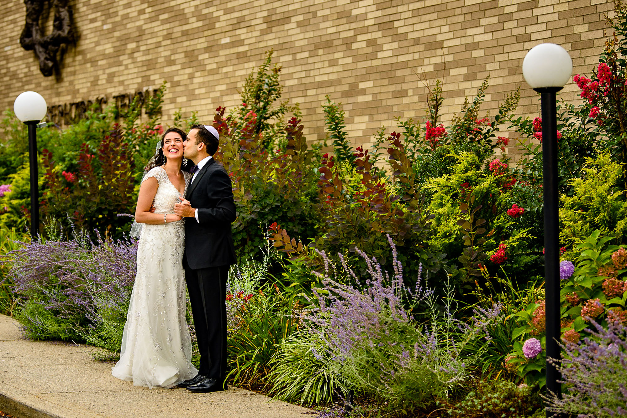 The Sephardic Temple wedding portrait
