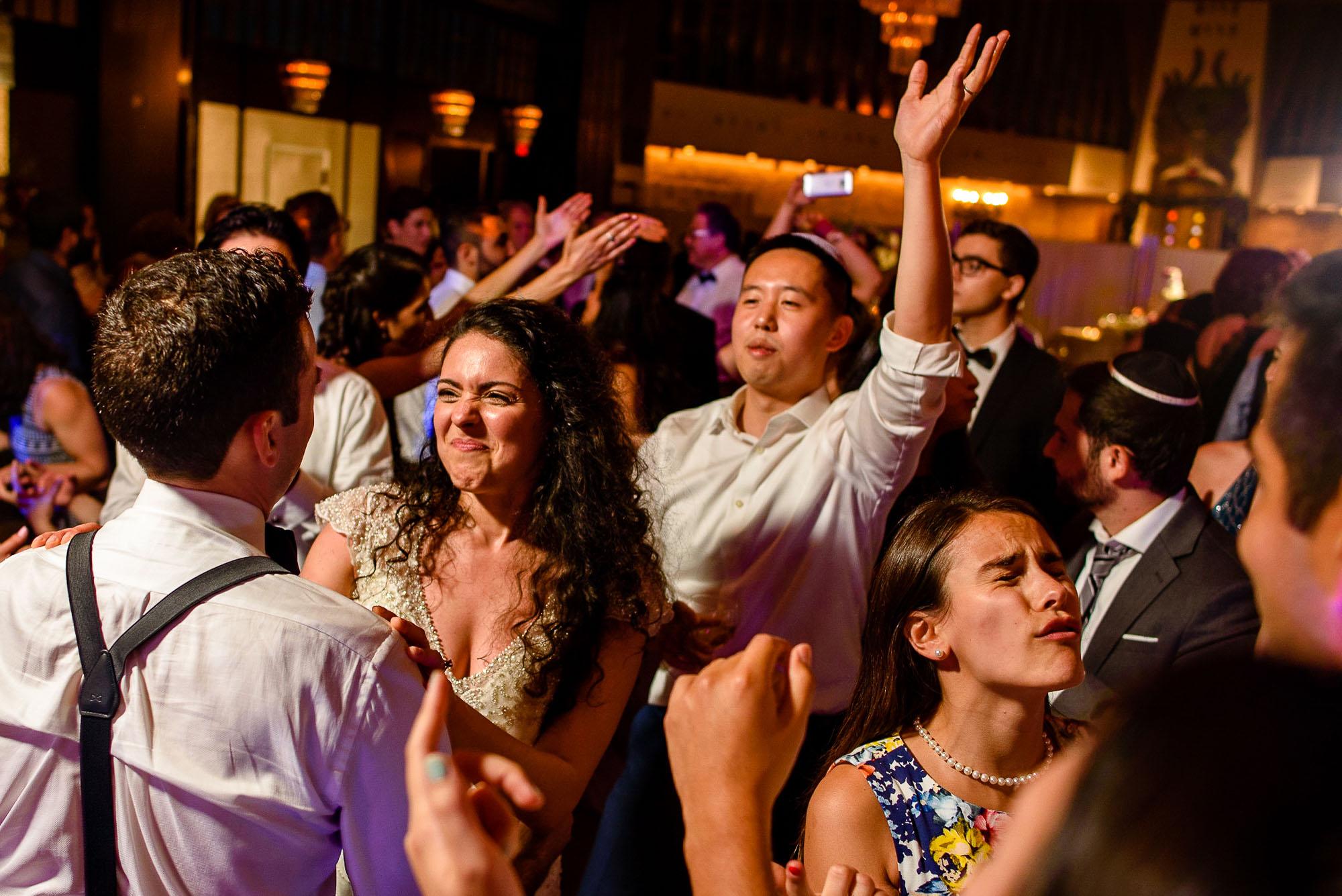The Sephardic Temple wedding reception dance