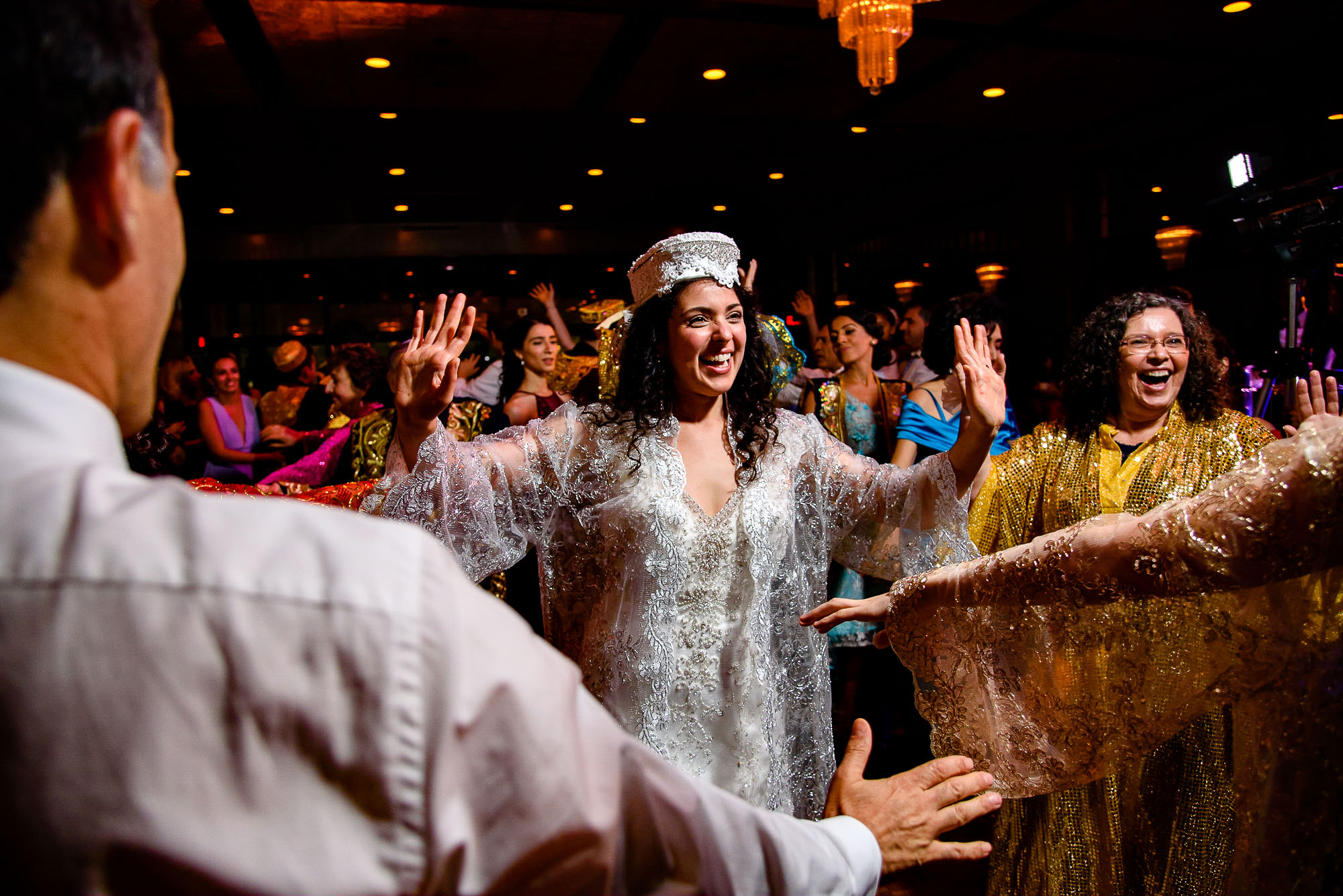 The Sephardic Temple wedding reception dance
