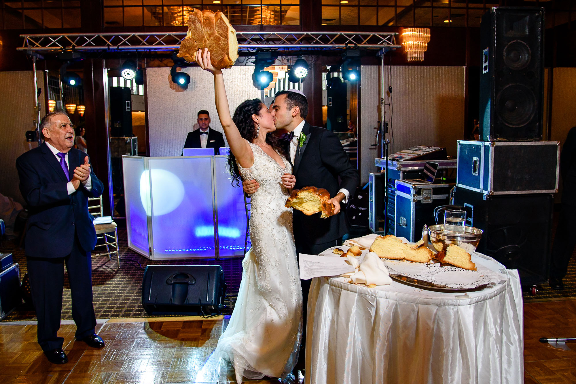 The Sephardic Temple wedding reception