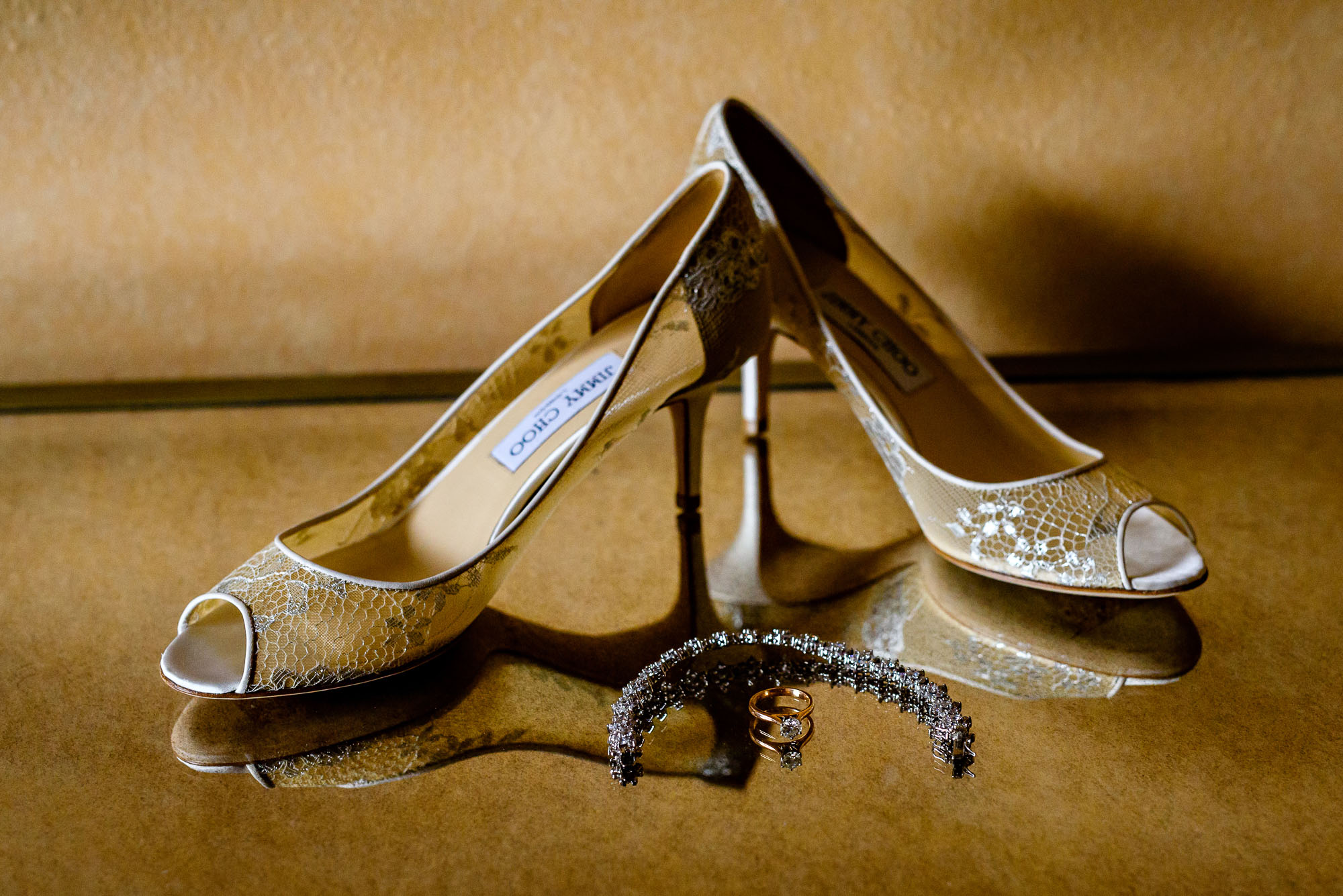 The Sephardic Temple wedding shoes
