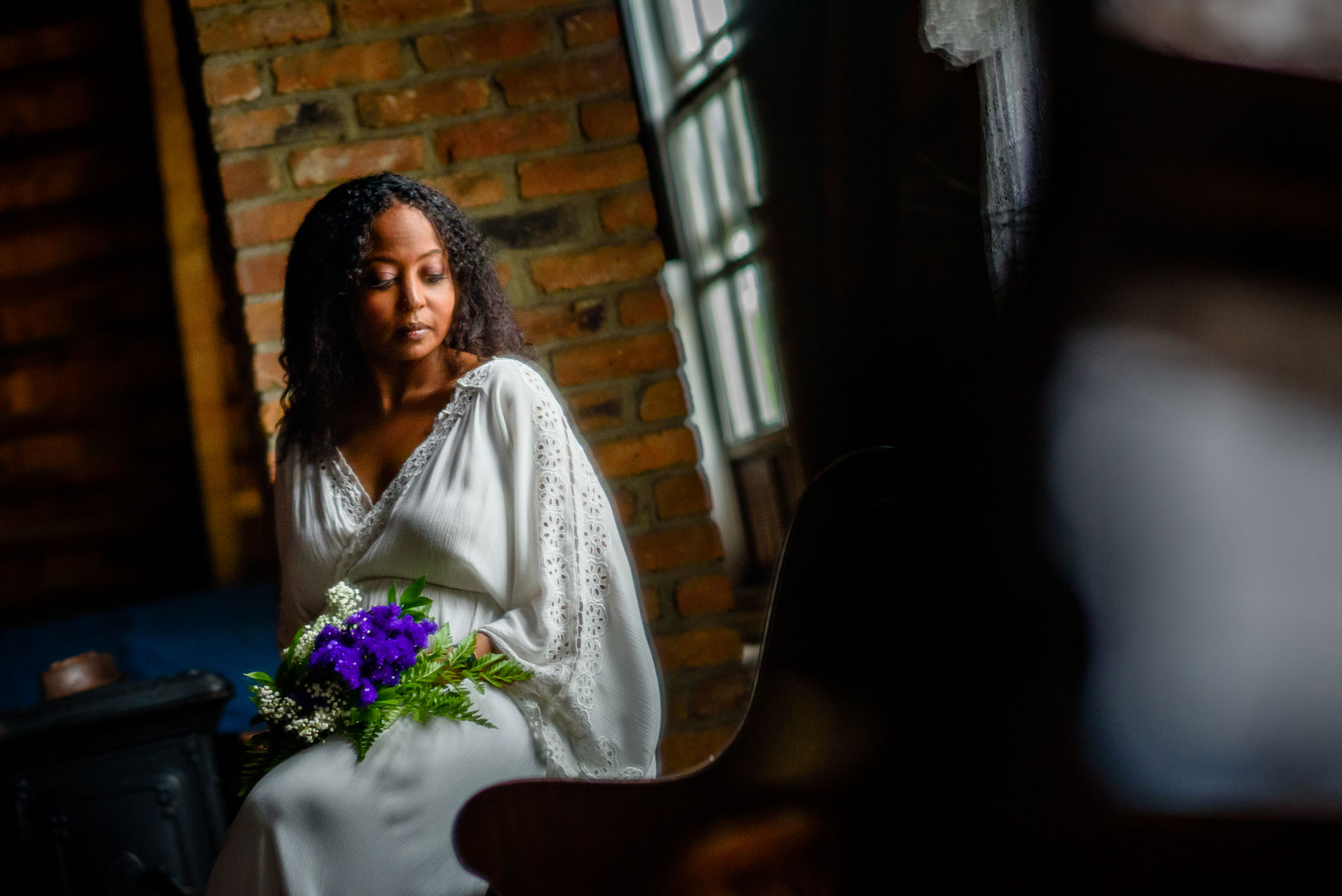 Onderdonk House Wedding bride portrait