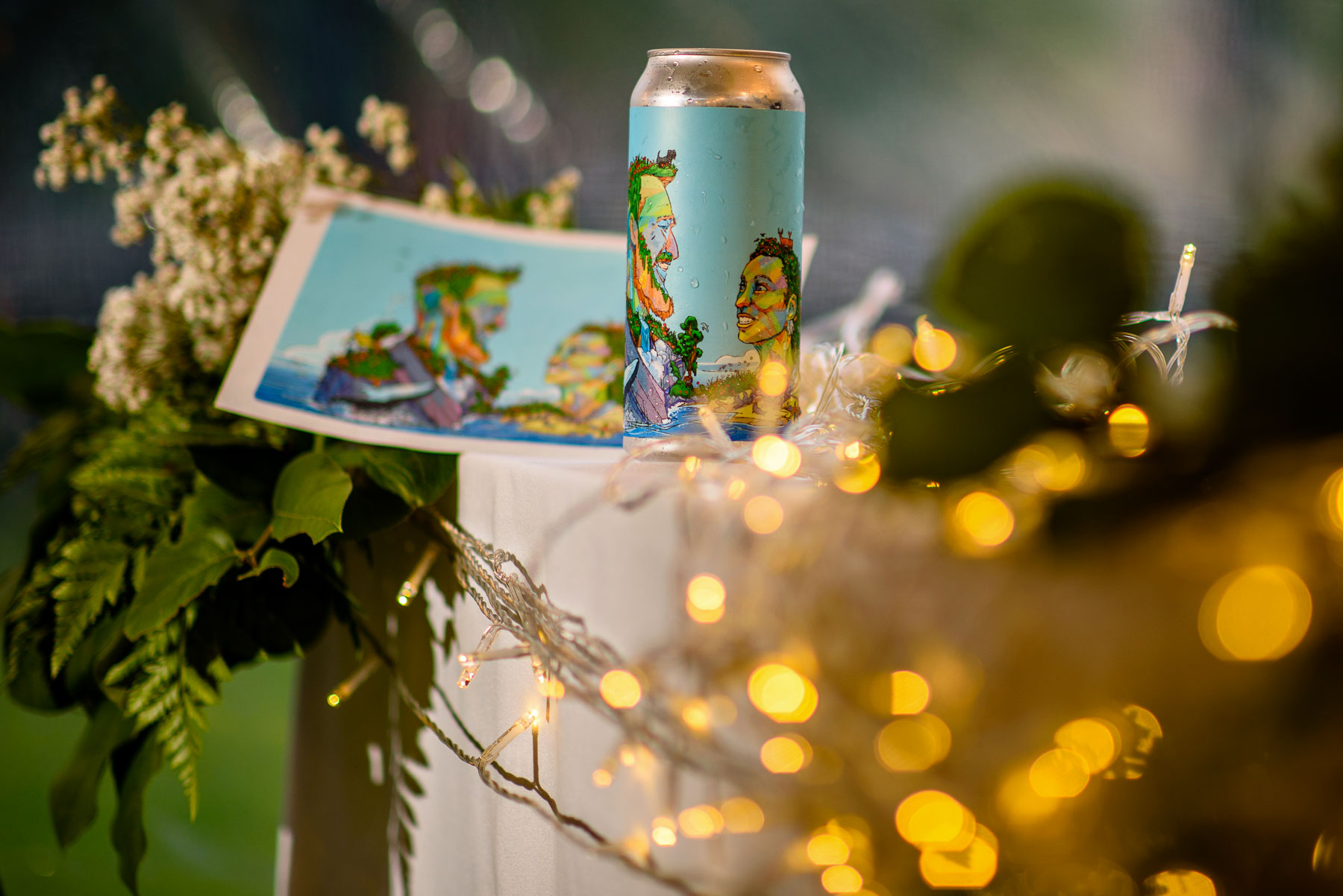 Onderdonk House Wedding custom beer can and poster