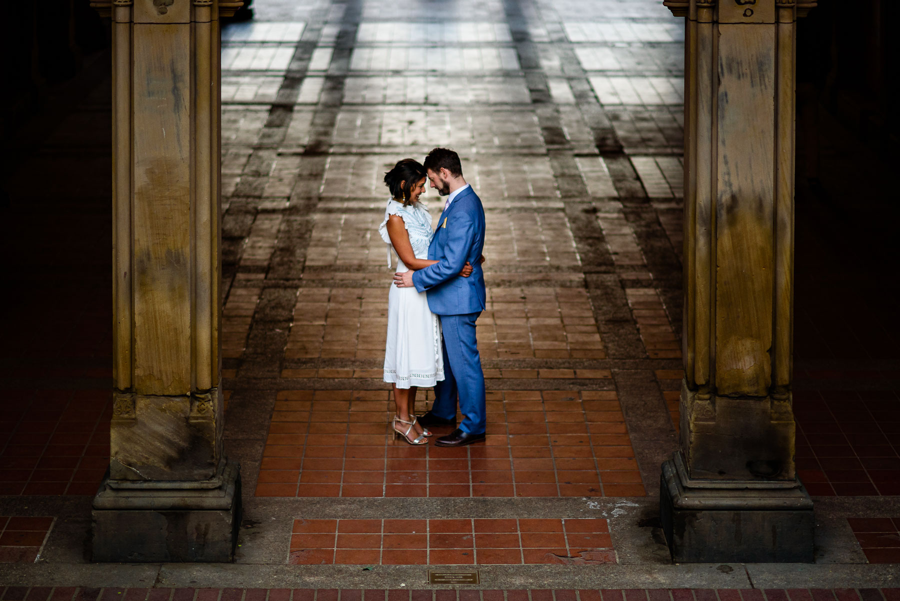 Central Park NYC Wedding portrait bethesda terrace