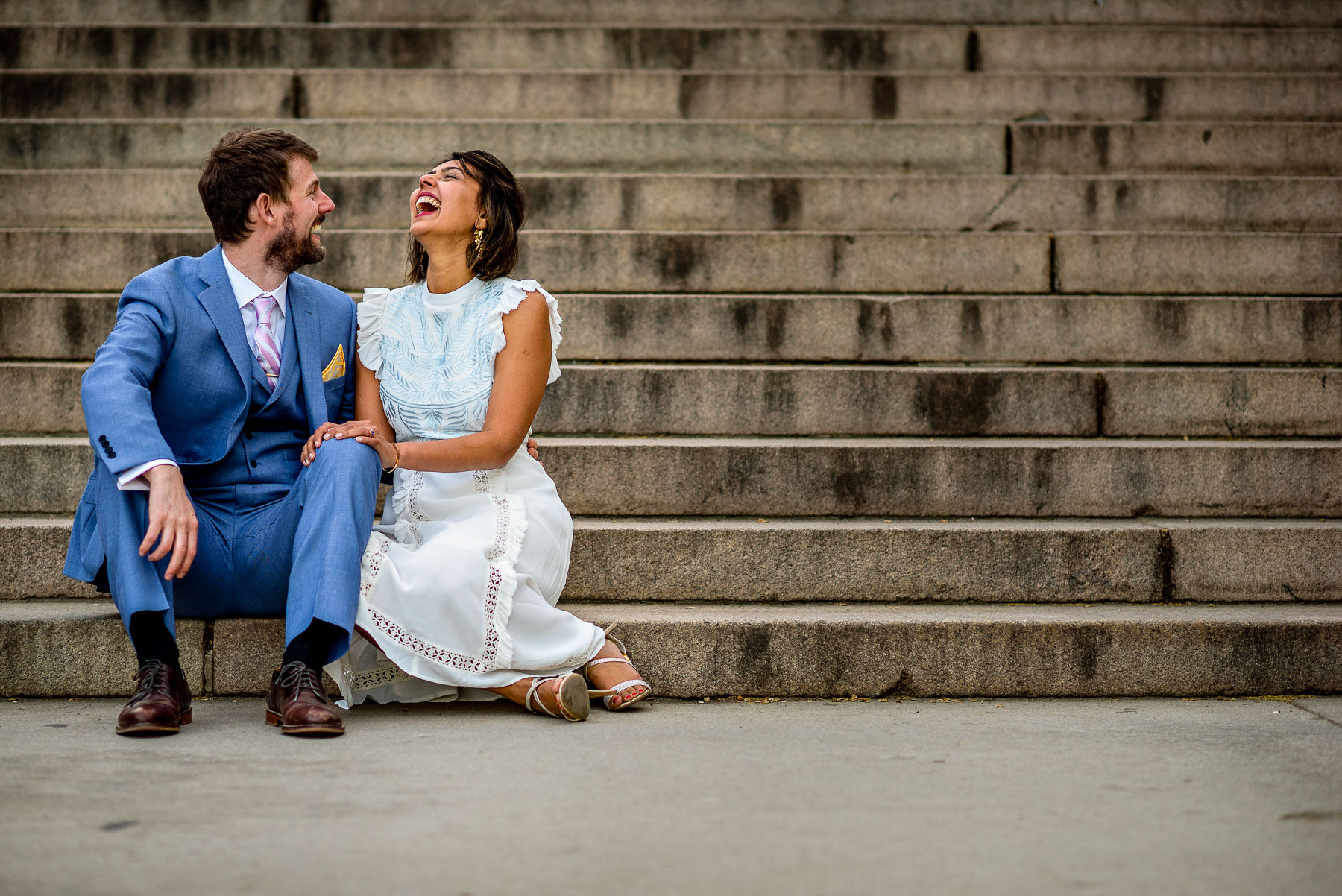 Central Park NYC Wedding portrait bethesda terrace steps