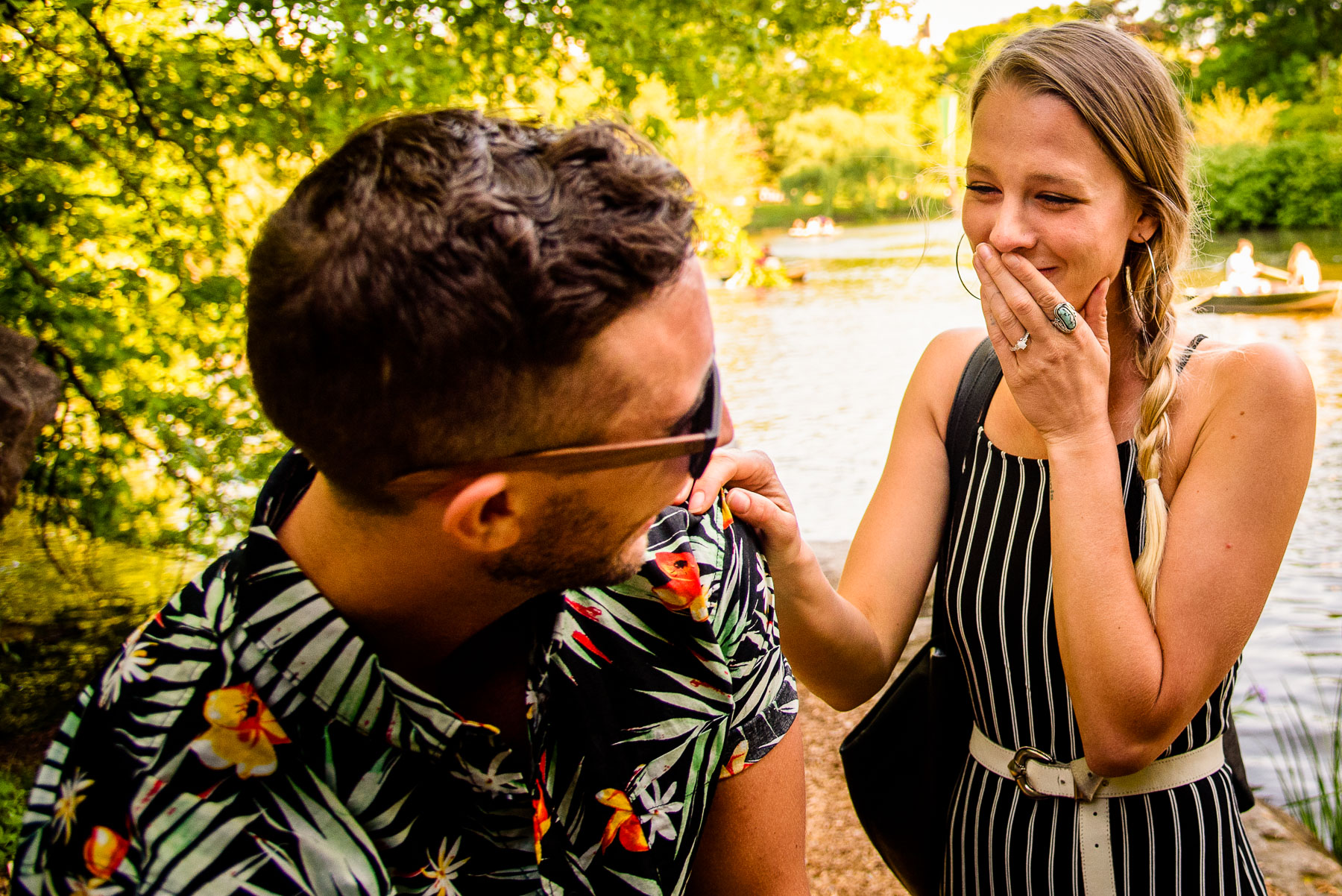 Central Park NYC Proposal girl reacts